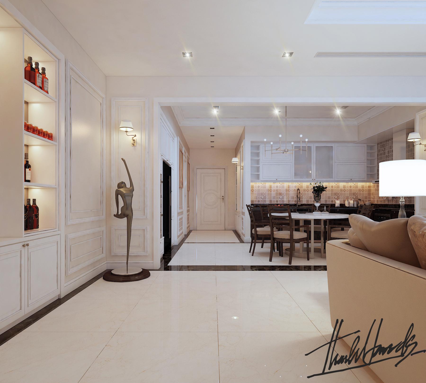 thiết kế nội thất chung cư tại Hà Nội chung cu royacity 8 1568191824