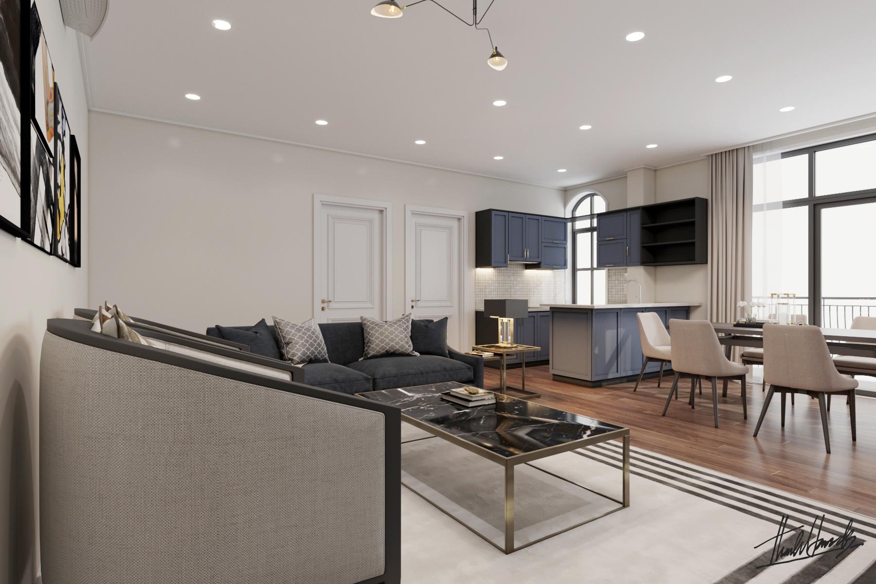 thiết kế nội thất Nhà Mặt Phố tại Hà Nội căn hộ cho thuê . 4 1568087724