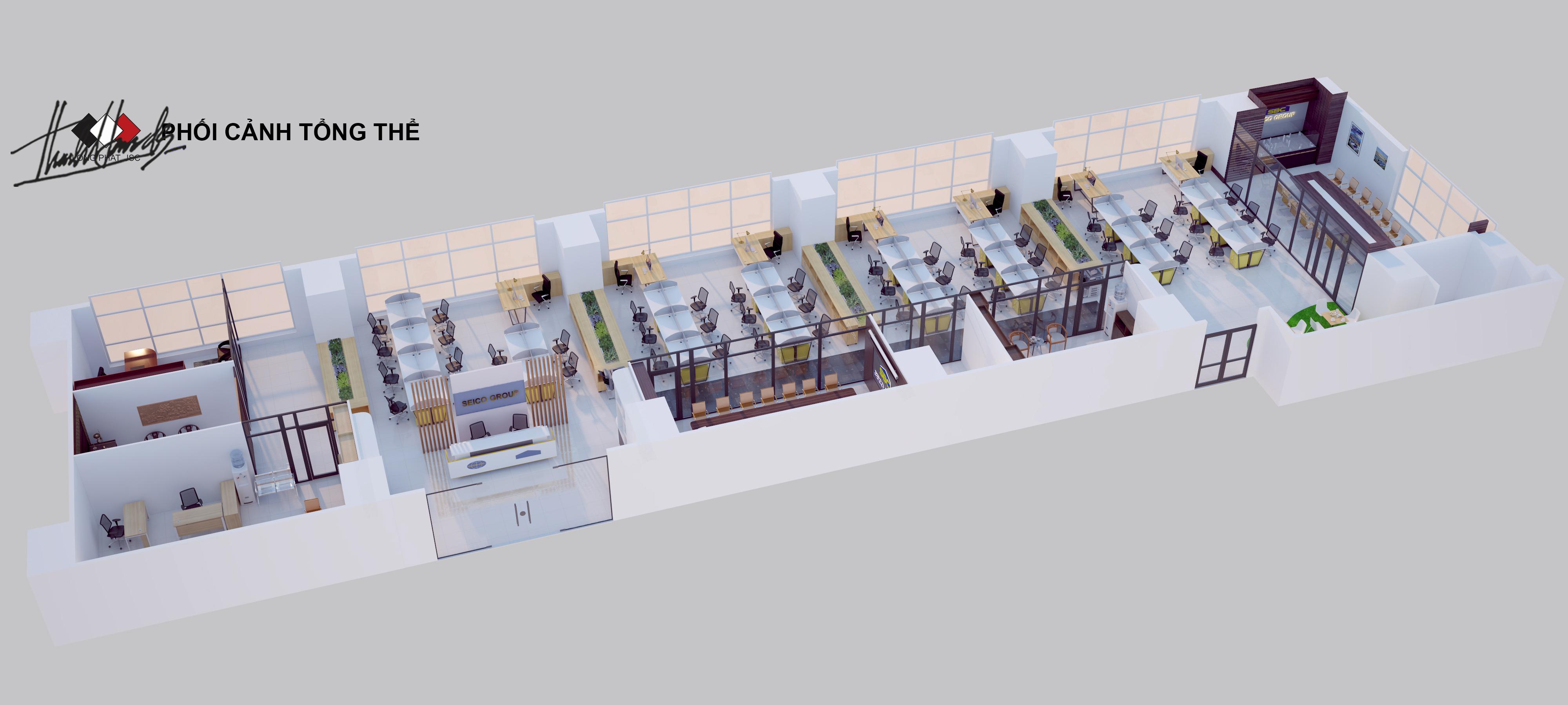 thiết kế nội thất Văn Phòng tại Hà Nội Văn phong SEIKO 1 1568274665