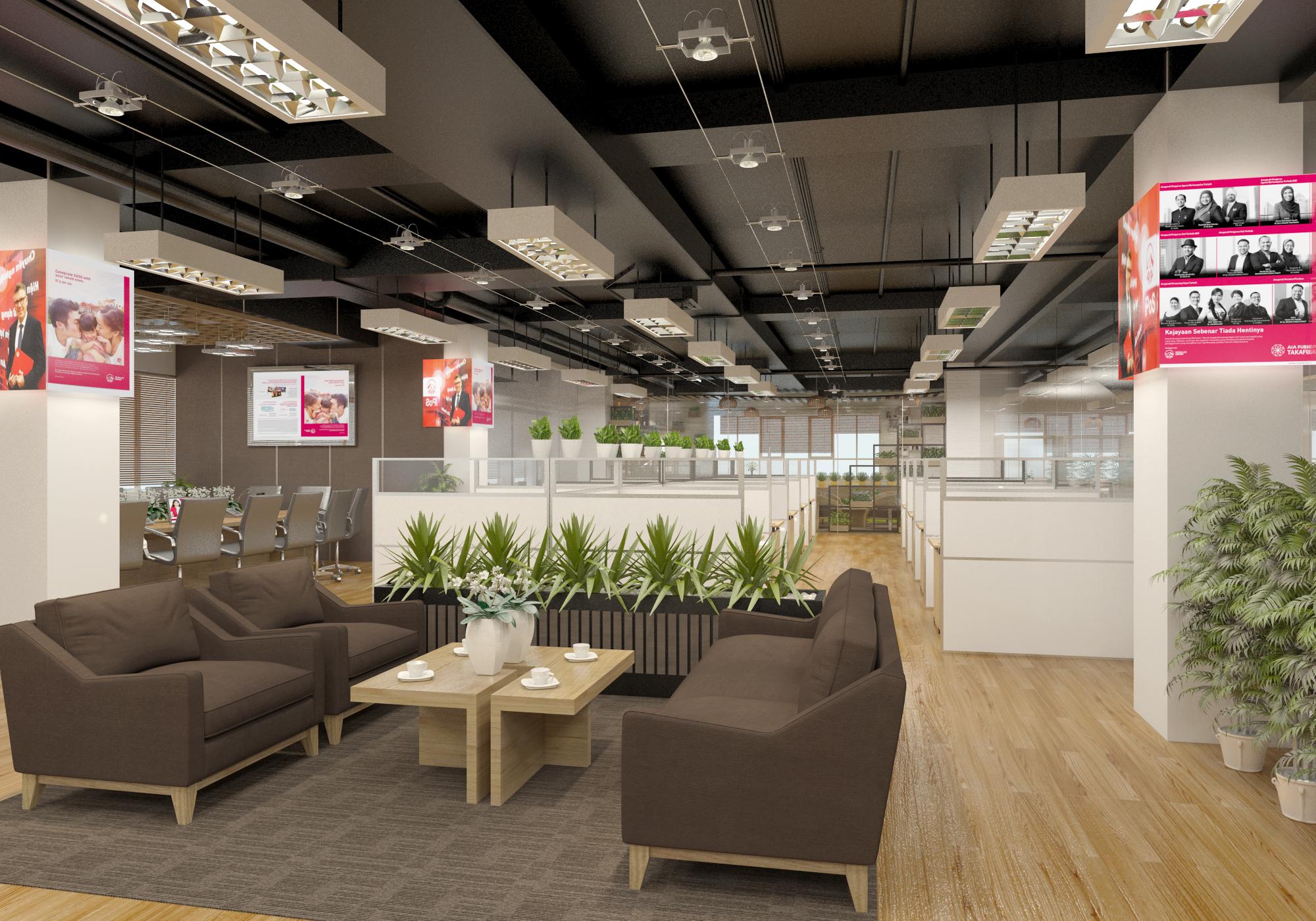 thiết kế nội thất Văn Phòng tại Hà Tĩnh Văn phòng AIA - Hà Tĩnh 0 1568277188