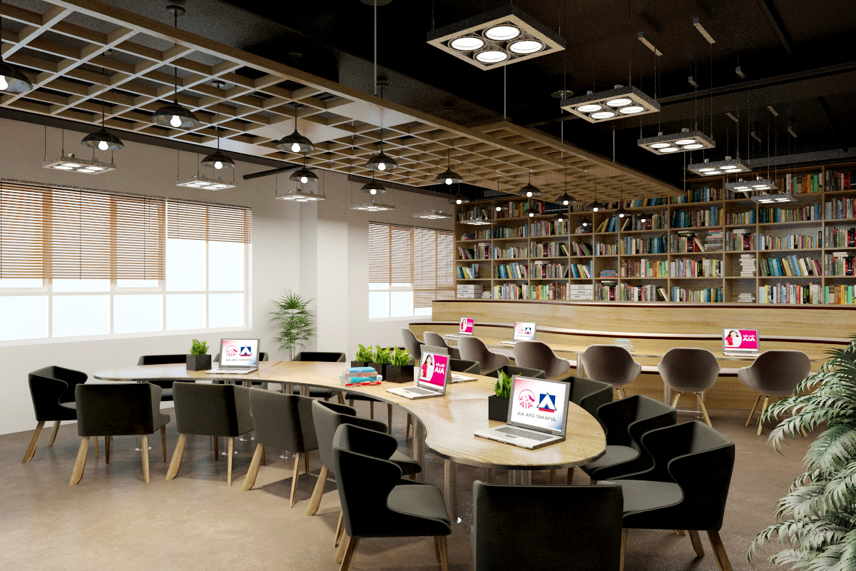 thiết kế nội thất Văn Phòng tại Hà Tĩnh Văn phòng AIA - Hà Tĩnh 18 1568277201