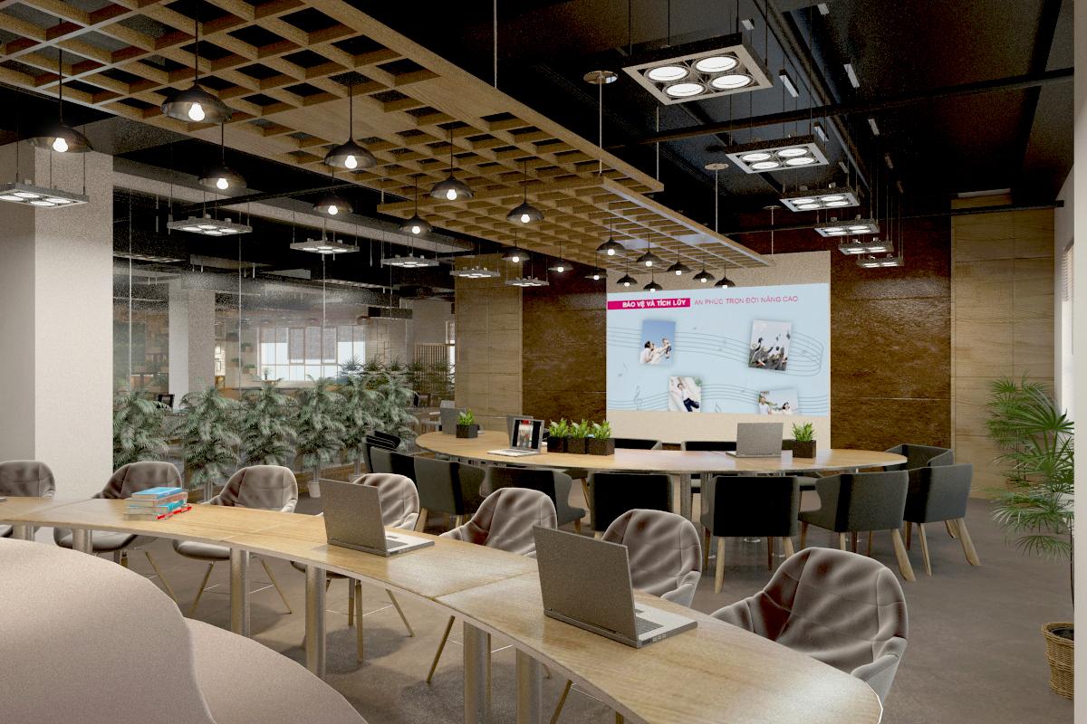 thiết kế nội thất Văn Phòng tại Hà Tĩnh Văn phòng AIA - Hà Tĩnh 19 1568277199