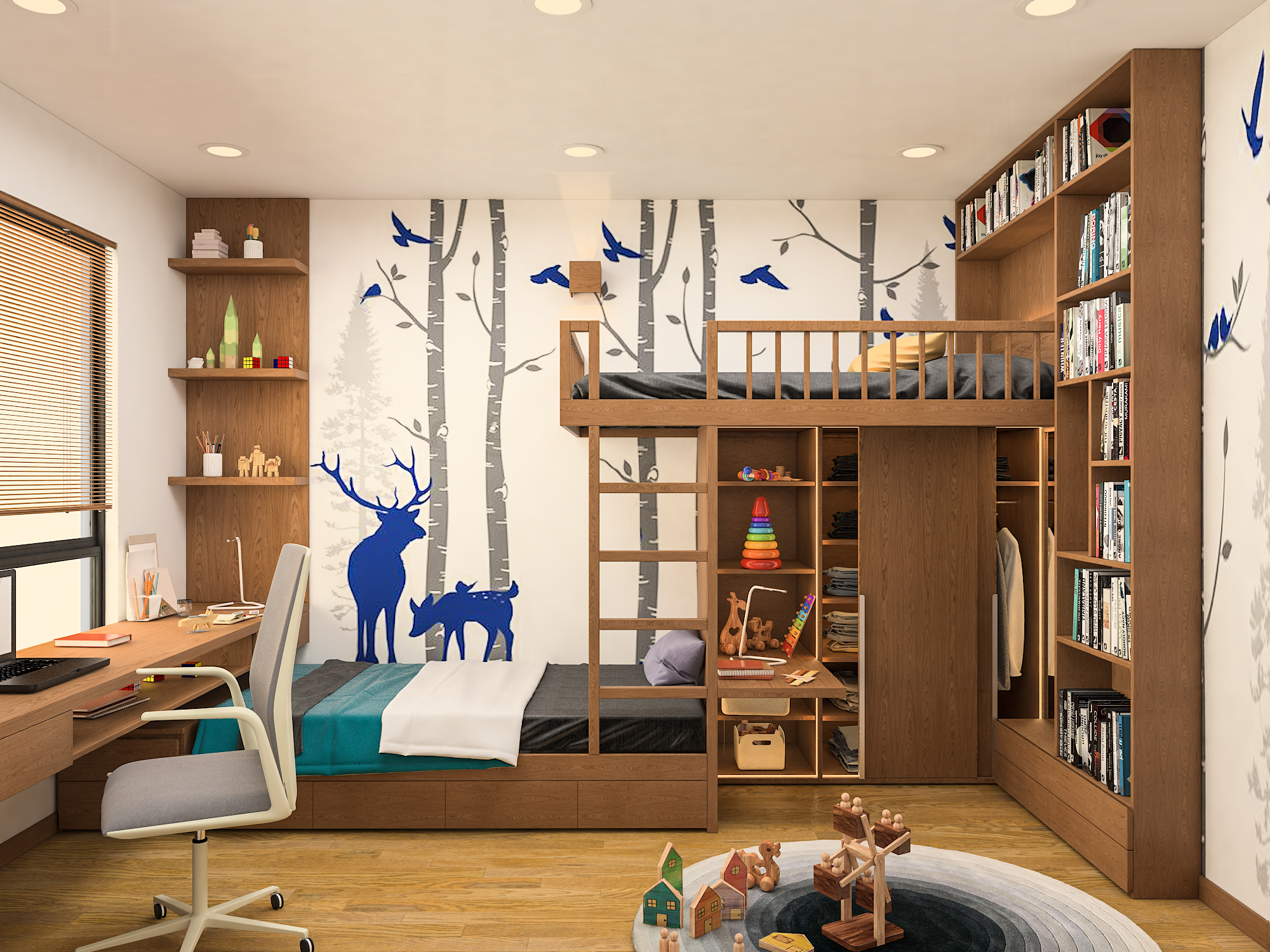 thiết kế nội thất chung cư tại Hà Nội Nội thất golden west 10 1533866926