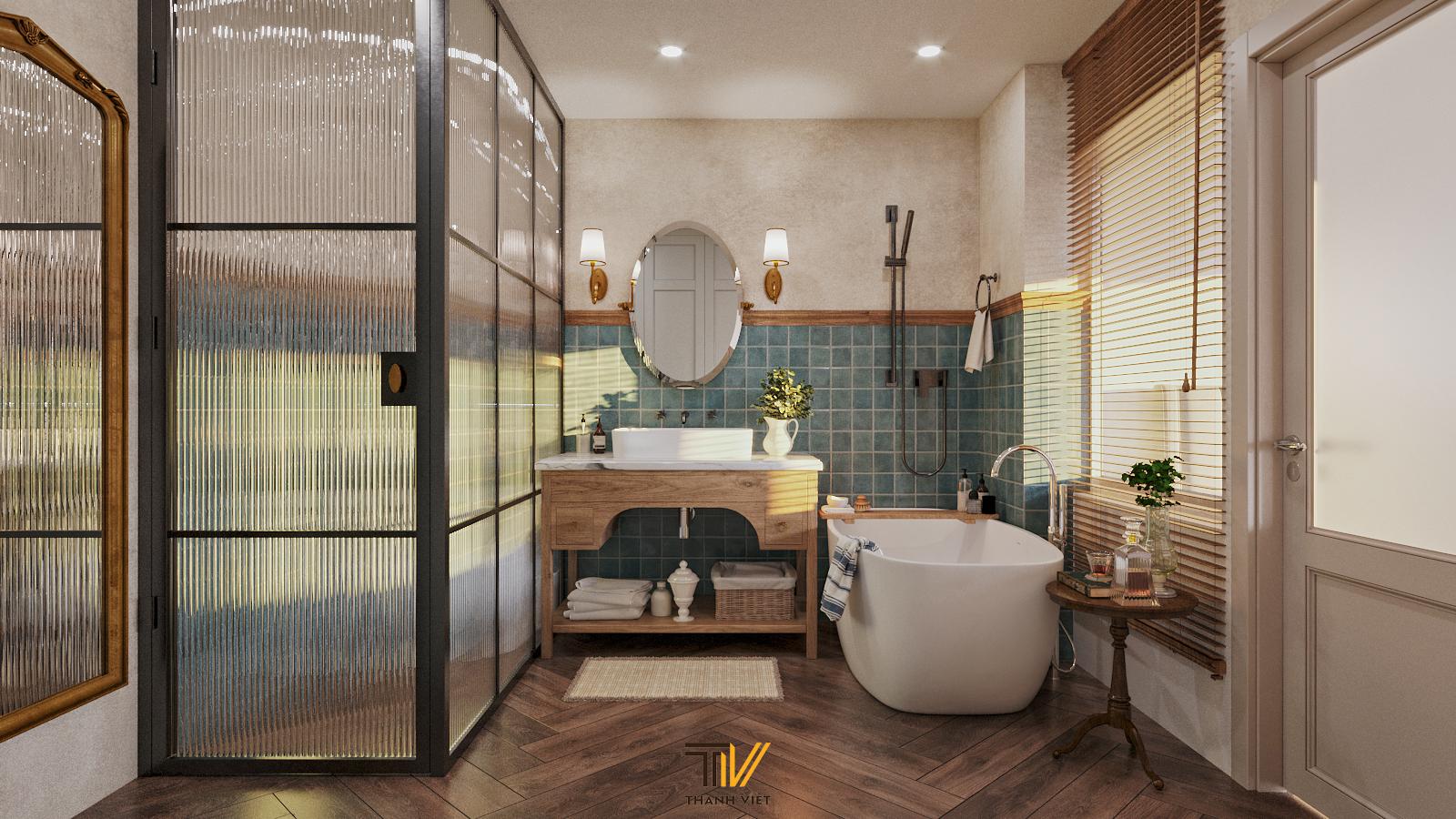 Thiết kế nội thất Chung Cư tại Hà Nội Vintage Farmhouse - Golden Westlake 1626853867 10