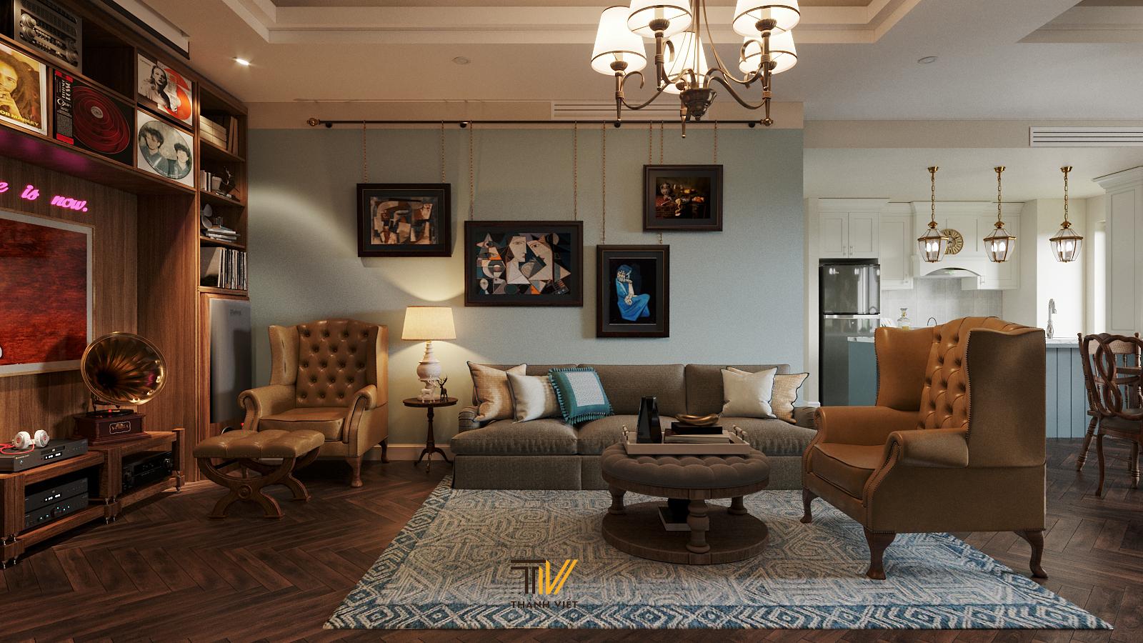 Thiết kế nội thất Chung Cư tại Hà Nội Vintage Farmhouse - Golden Westlake 1626853867 2