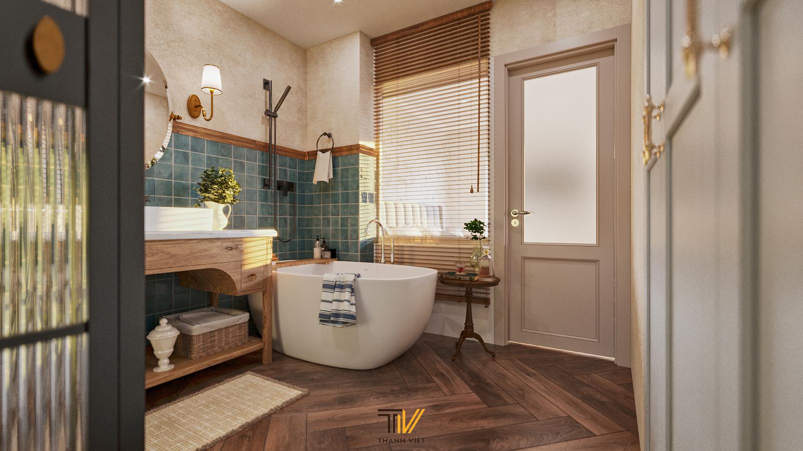 Thiết kế nội thất Chung Cư tại Hà Nội Vintage Farmhouse - Golden Westlake 1626853867 9