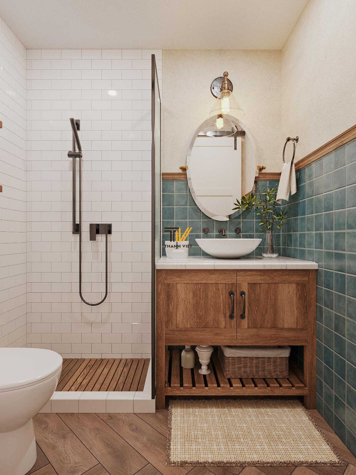 Thiết kế nội thất Chung Cư tại Hà Nội Vintage Farmhouse - Golden Westlake 1626853869 12