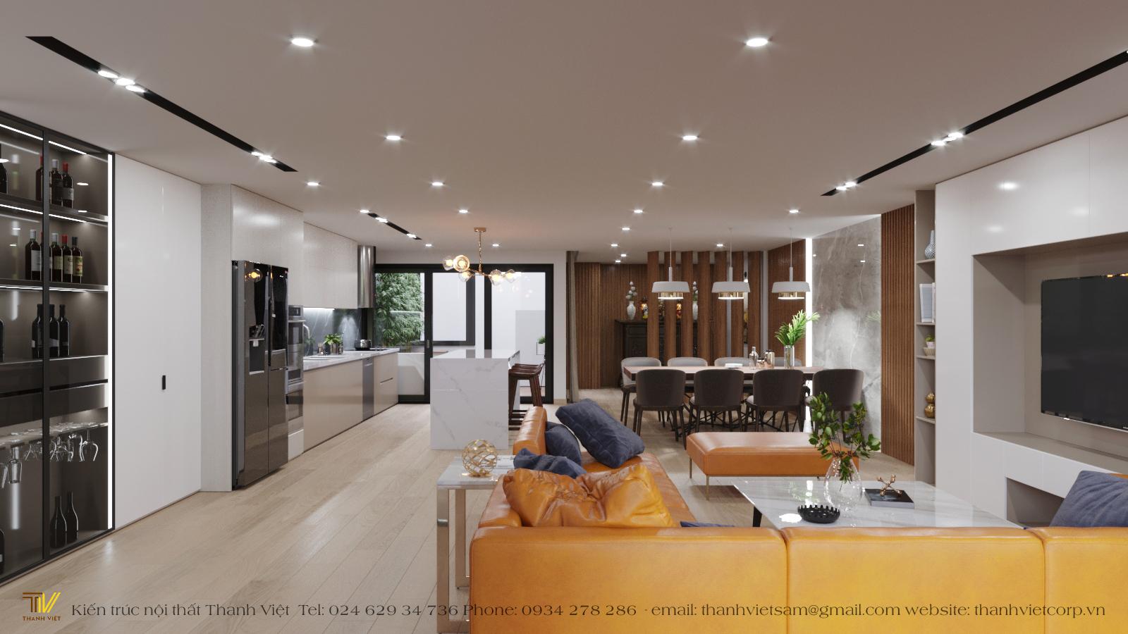 Thiết kế nội thất Nhà tại Hà Nội Tập thể Kẻ Vẽ 1577156589 0