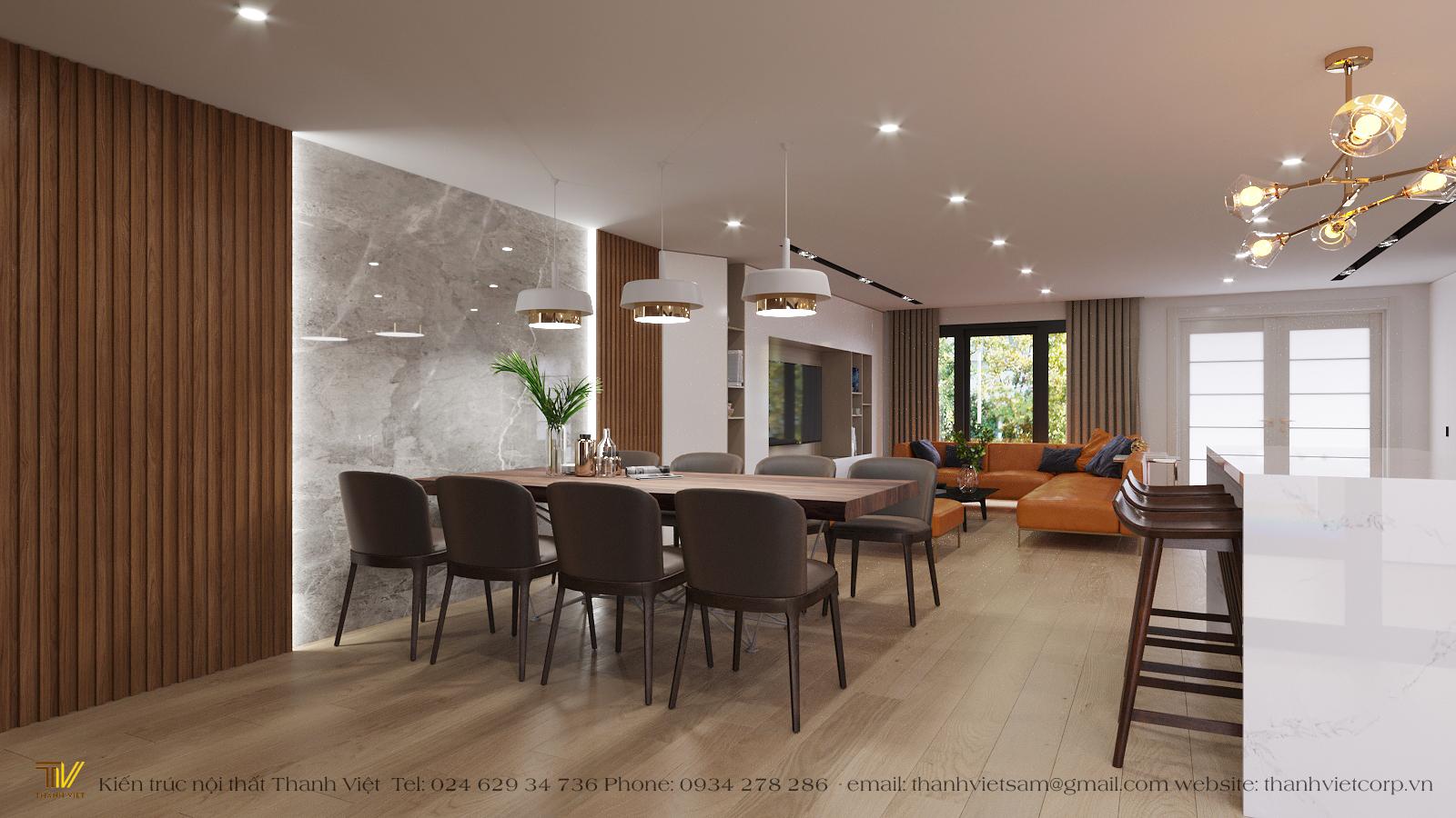 Thiết kế nội thất Nhà tại Hà Nội Tập thể Kẻ Vẽ 1577156595 4