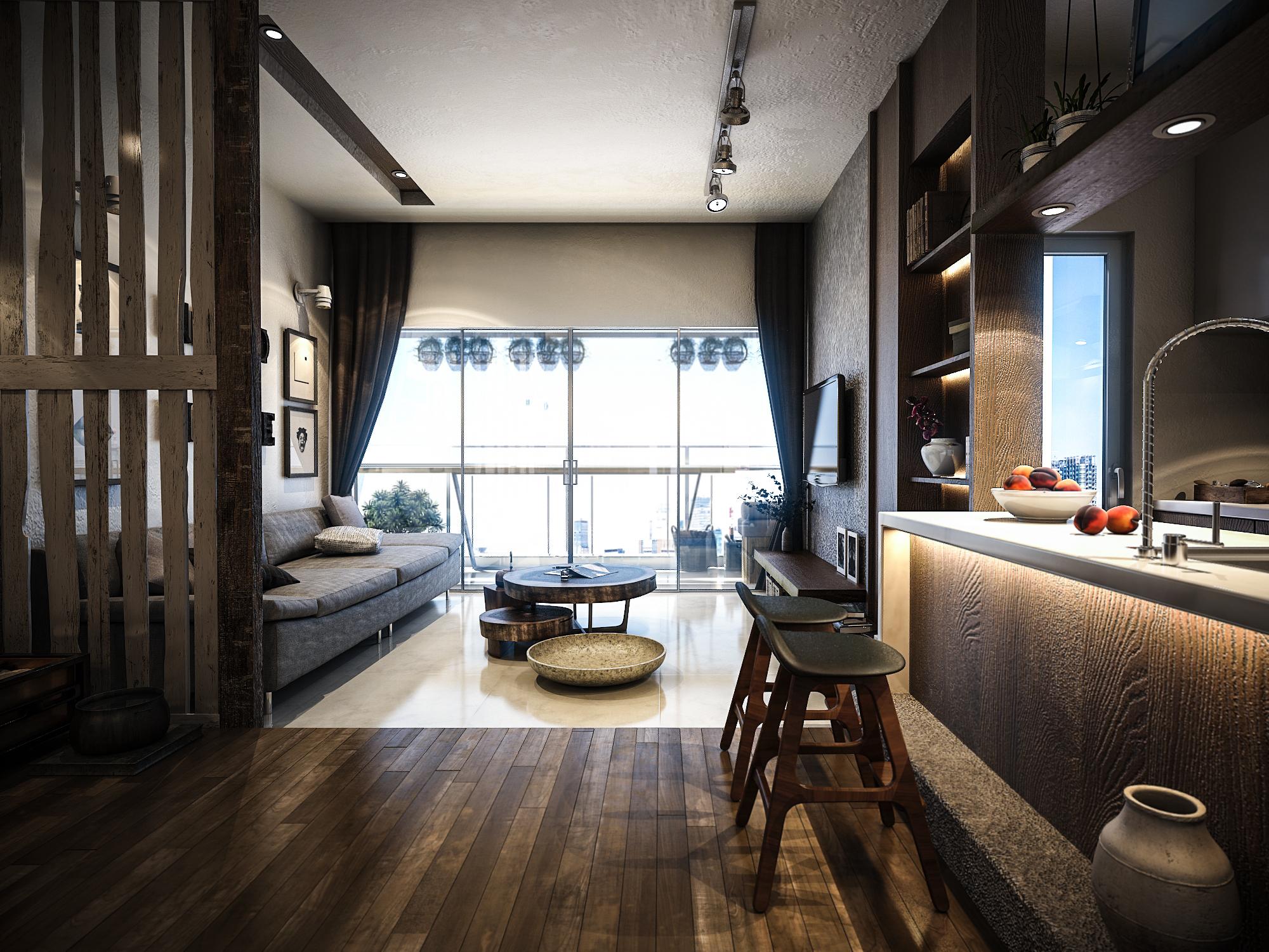 thiết kế nội thất chung cư tại Hồ Chí Minh Mr. Thuận Apartment 0 1544198871