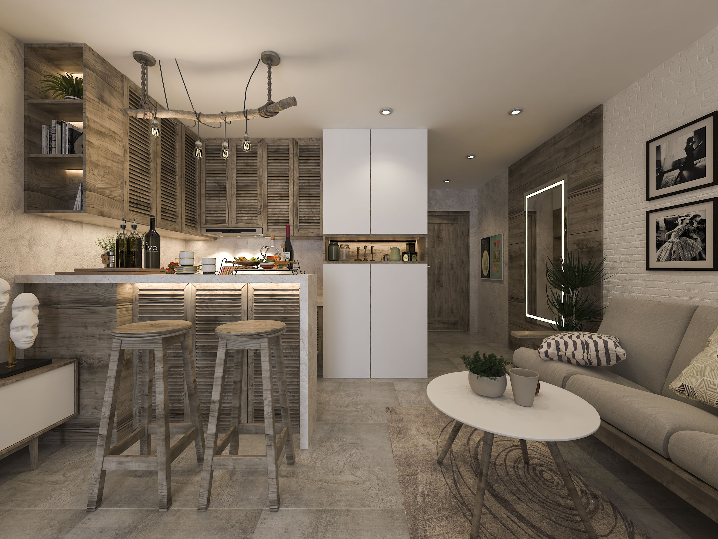 thiết kế nội thất chung cư tại Hồ Chí Minh Mr. Nam Apartment 0 1562984051