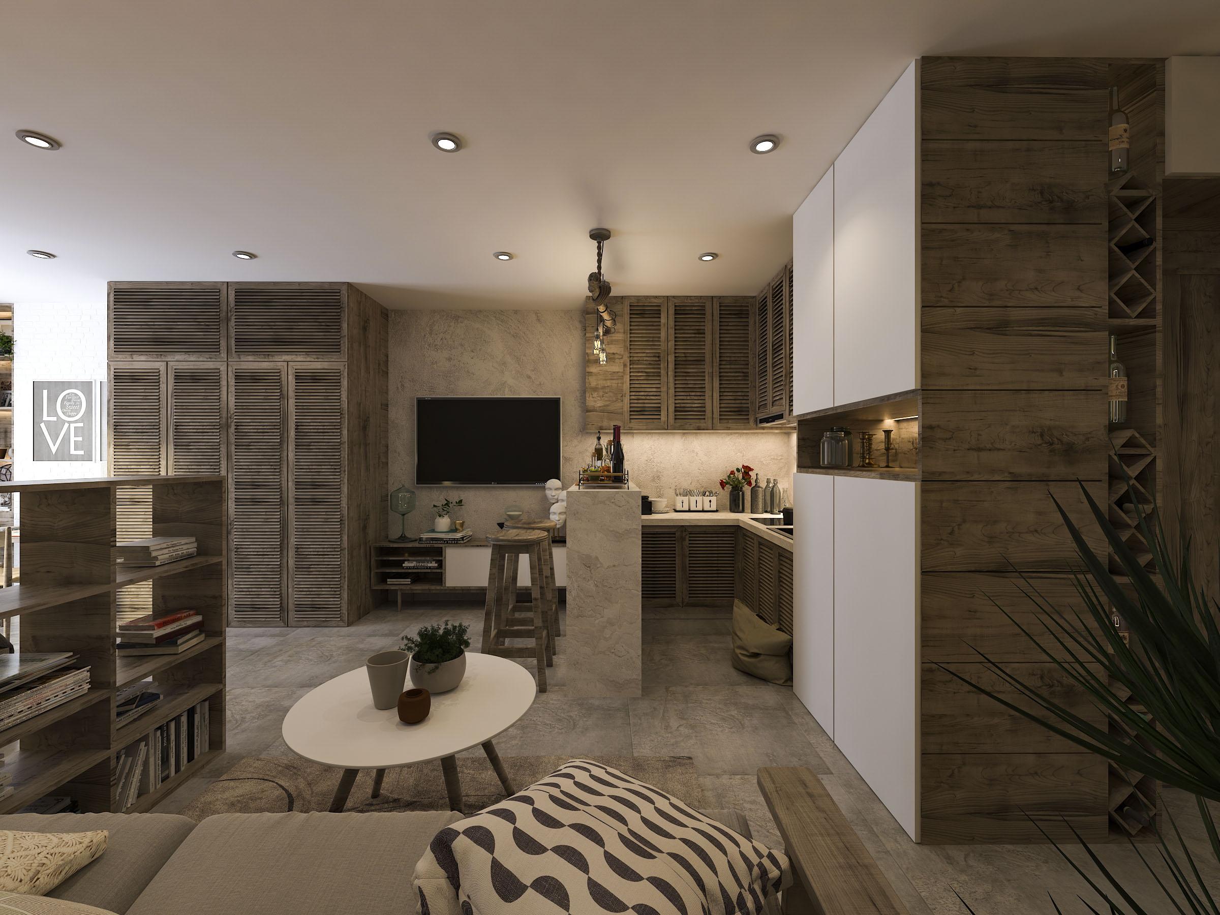 thiết kế nội thất chung cư tại Hồ Chí Minh Mr. Nam Apartment 3 1562984052