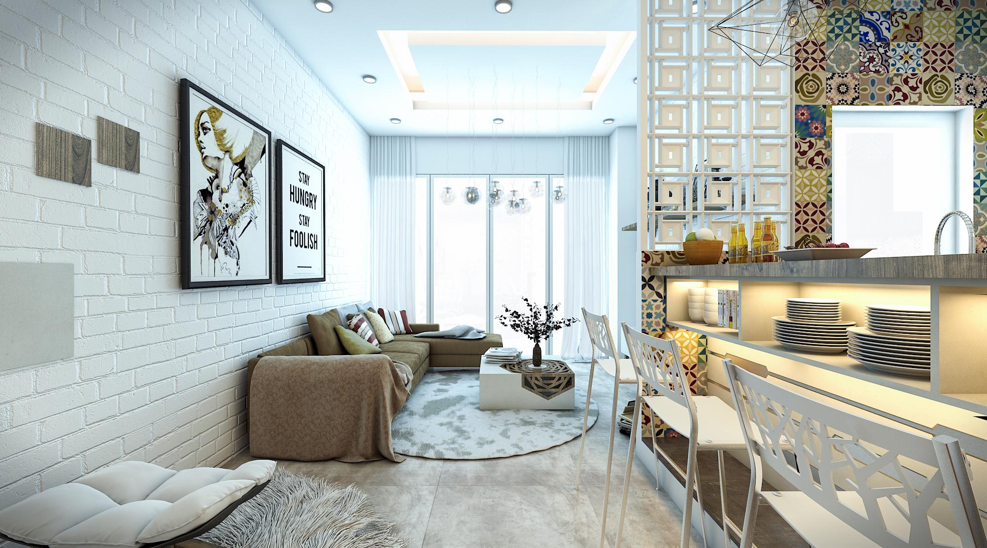 thiết kế nội thất chung cư tại Hồ Chí Minh Ms. Ly Apartment 6 1562574639