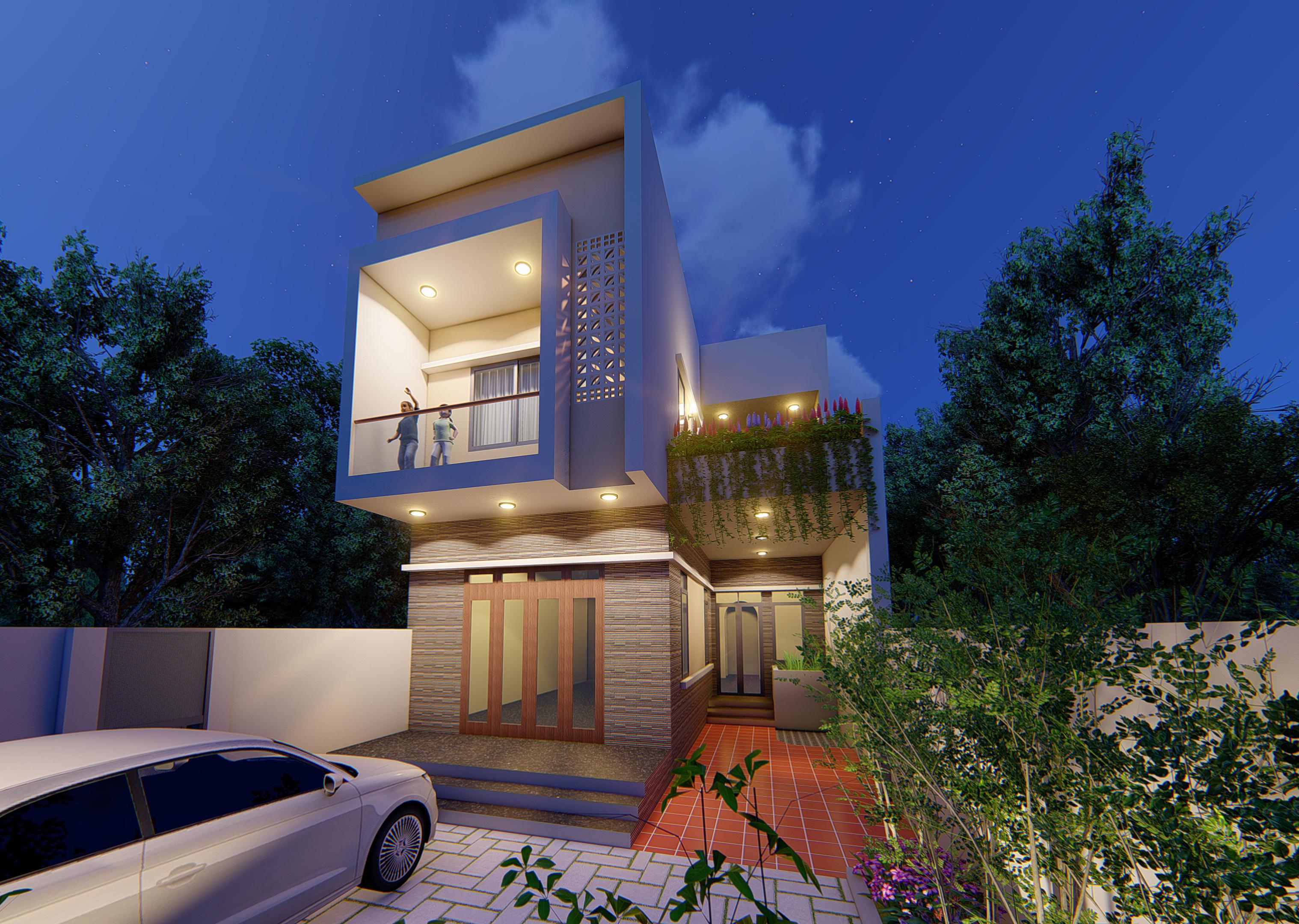 thiết kế Nhà Mặt Phố 2 tầng tại Bắc Ninh Nhà ở Bắc Ninh 1 1540579518