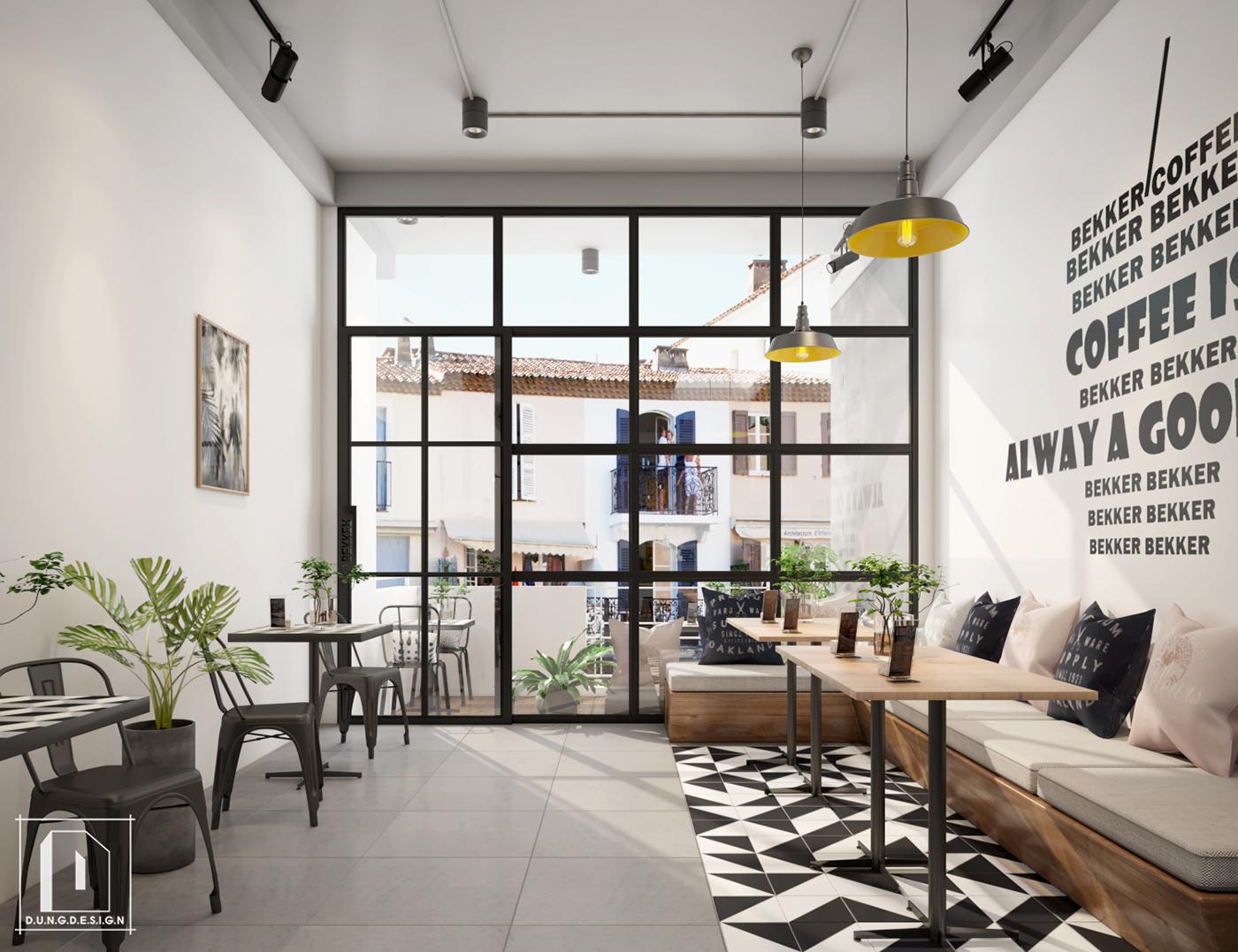 thiết kế nội thất Cafe tại Hồ Chí Minh Bekker Coffee 12 1538453251