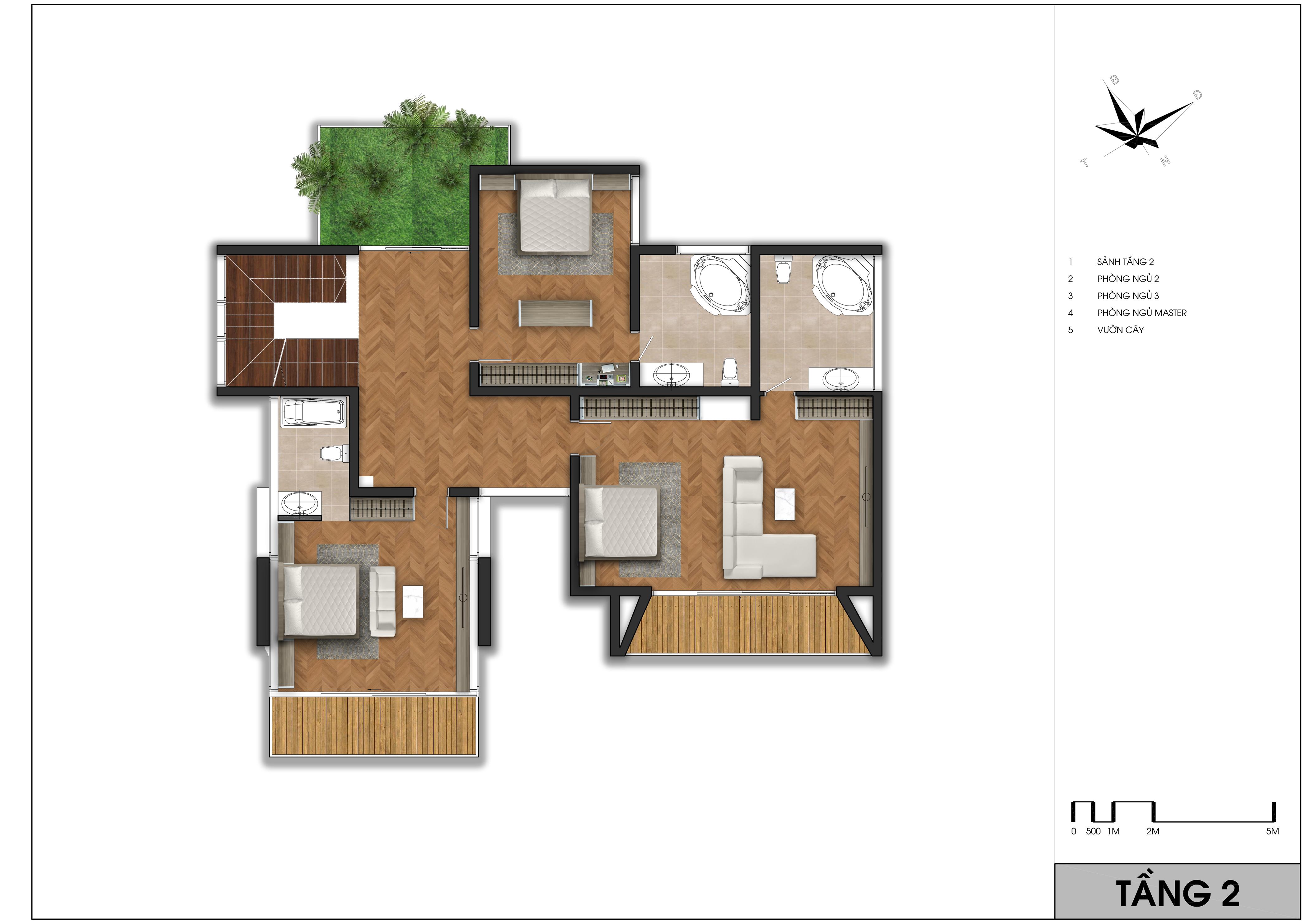 thiết kế Biệt Thự 3 tầng tại Vĩnh Phúc TX- Villas 4 1562065357