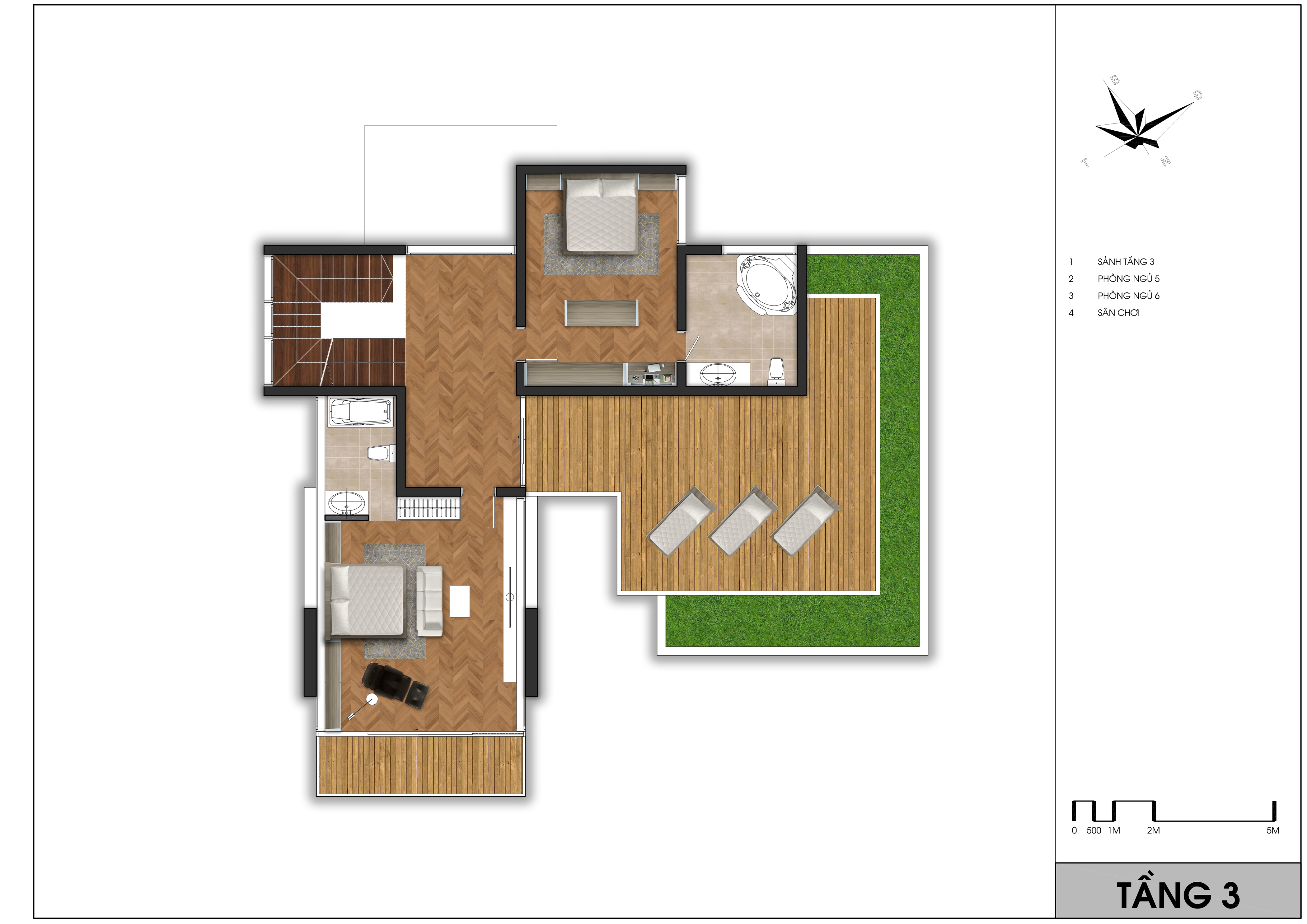 thiết kế Biệt Thự 3 tầng tại Vĩnh Phúc TX- Villas 5 1562065358