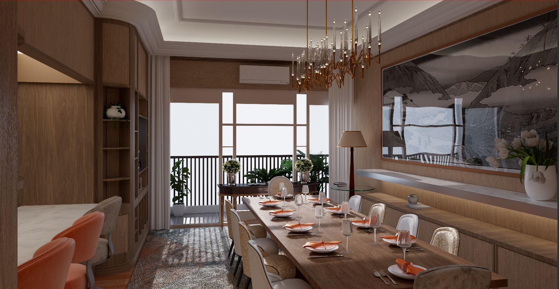 Thiết kế nội thất Chung Cư tại Hà Nội âm hưởng 1626063060 3