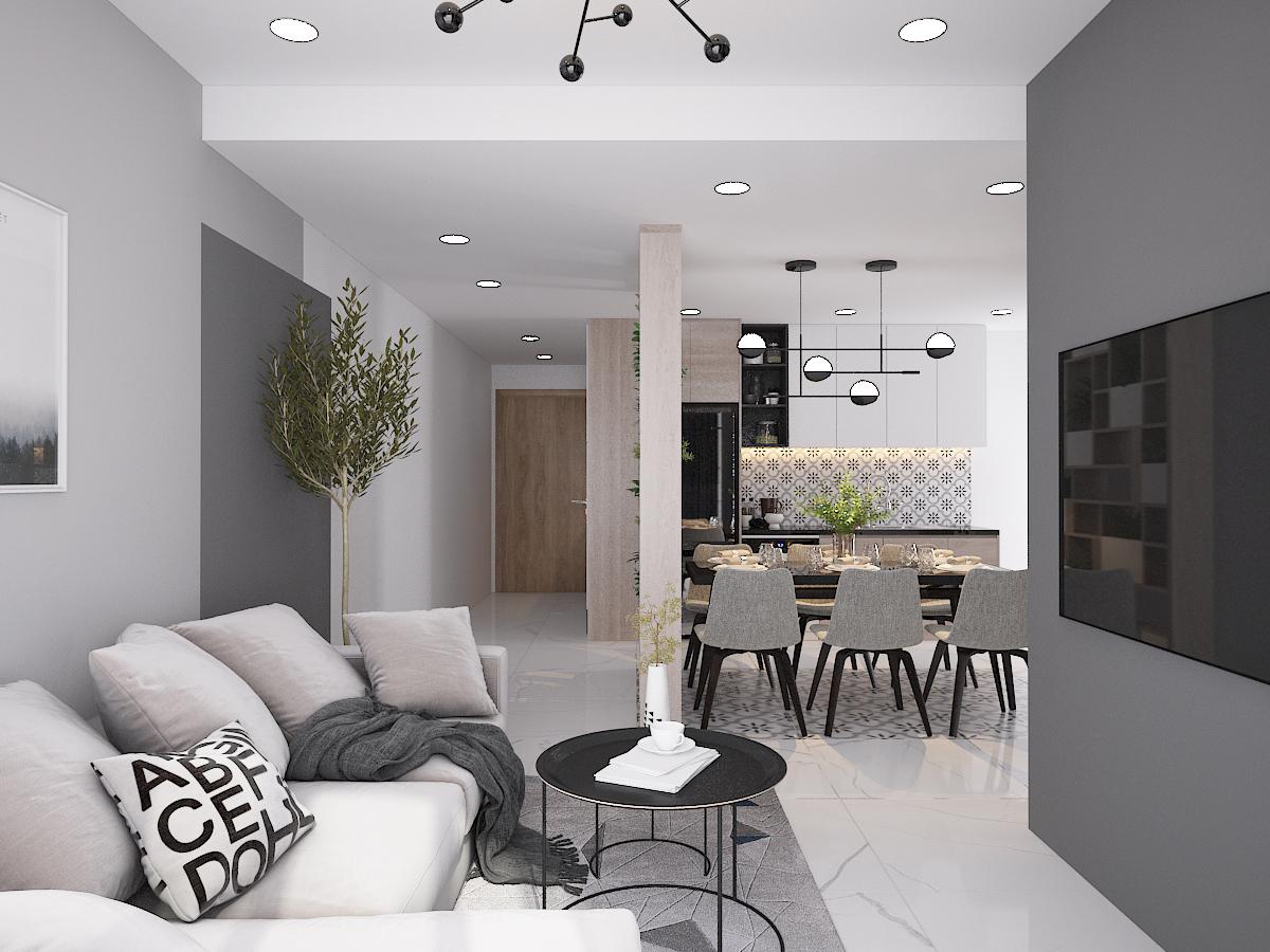 Thiết kế nội thất Chung Cư tại Hồ Chí Minh CĂN HỘ SAIGON SOUTH RESIDENSES - TYPE F 1587109563 2
