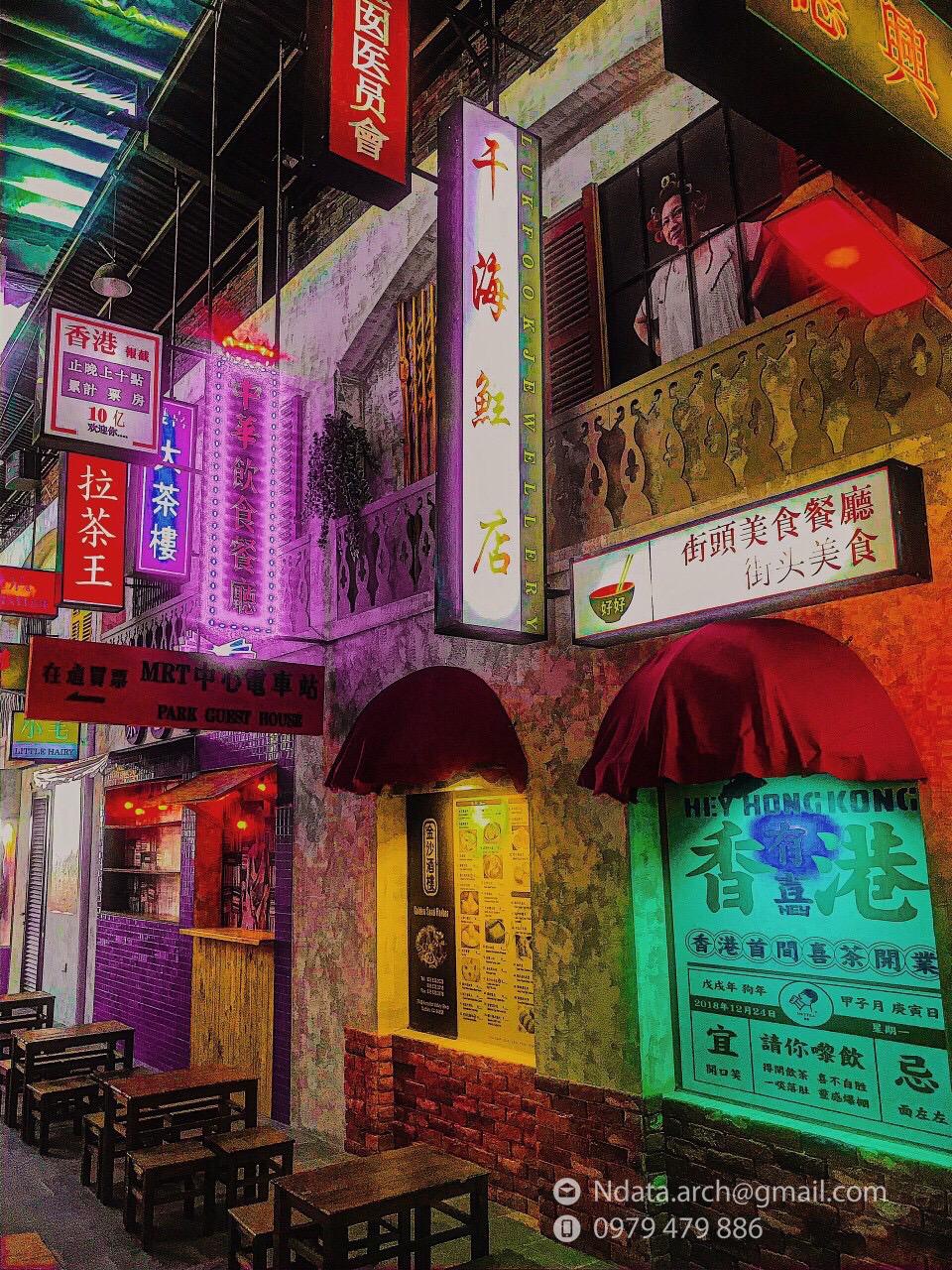 Thiết kế nội thất Cafe tại Khánh Hòa Hẻm phố Hongkong 1580971525 3