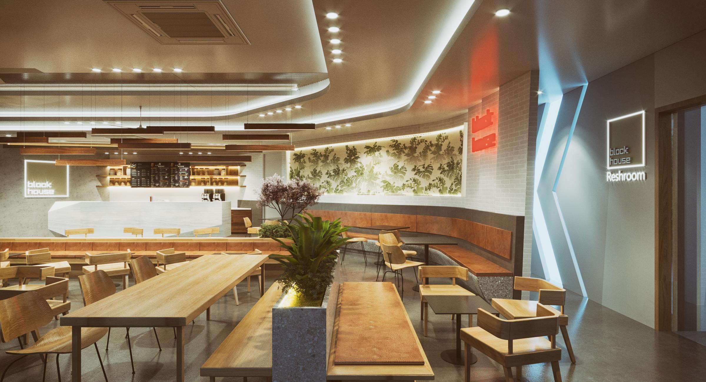 Thiết kế nội thất Cafe tại Long An Block house 1590076481 4