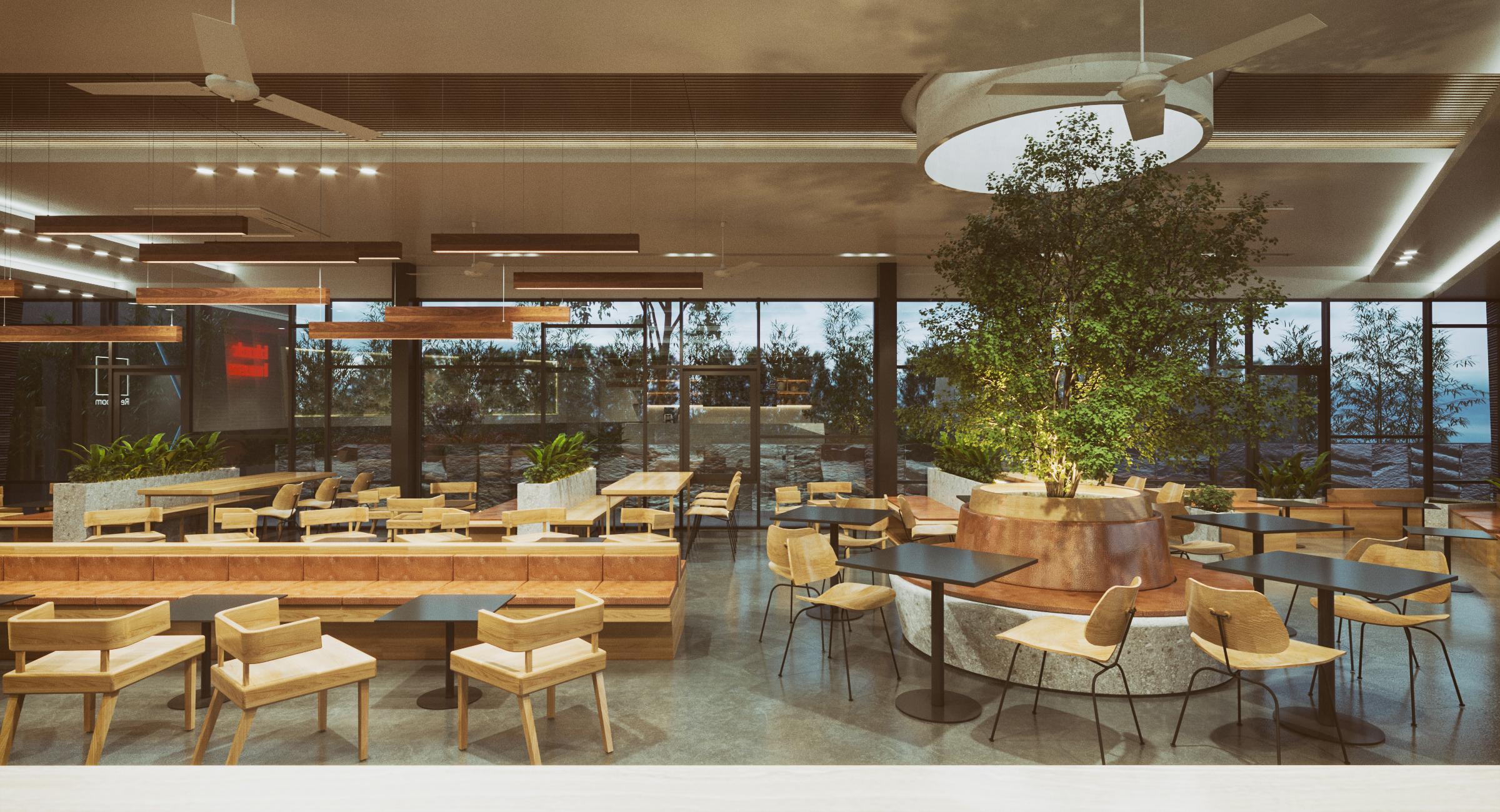 Thiết kế nội thất Cafe tại Long An Block house 1590076482 3