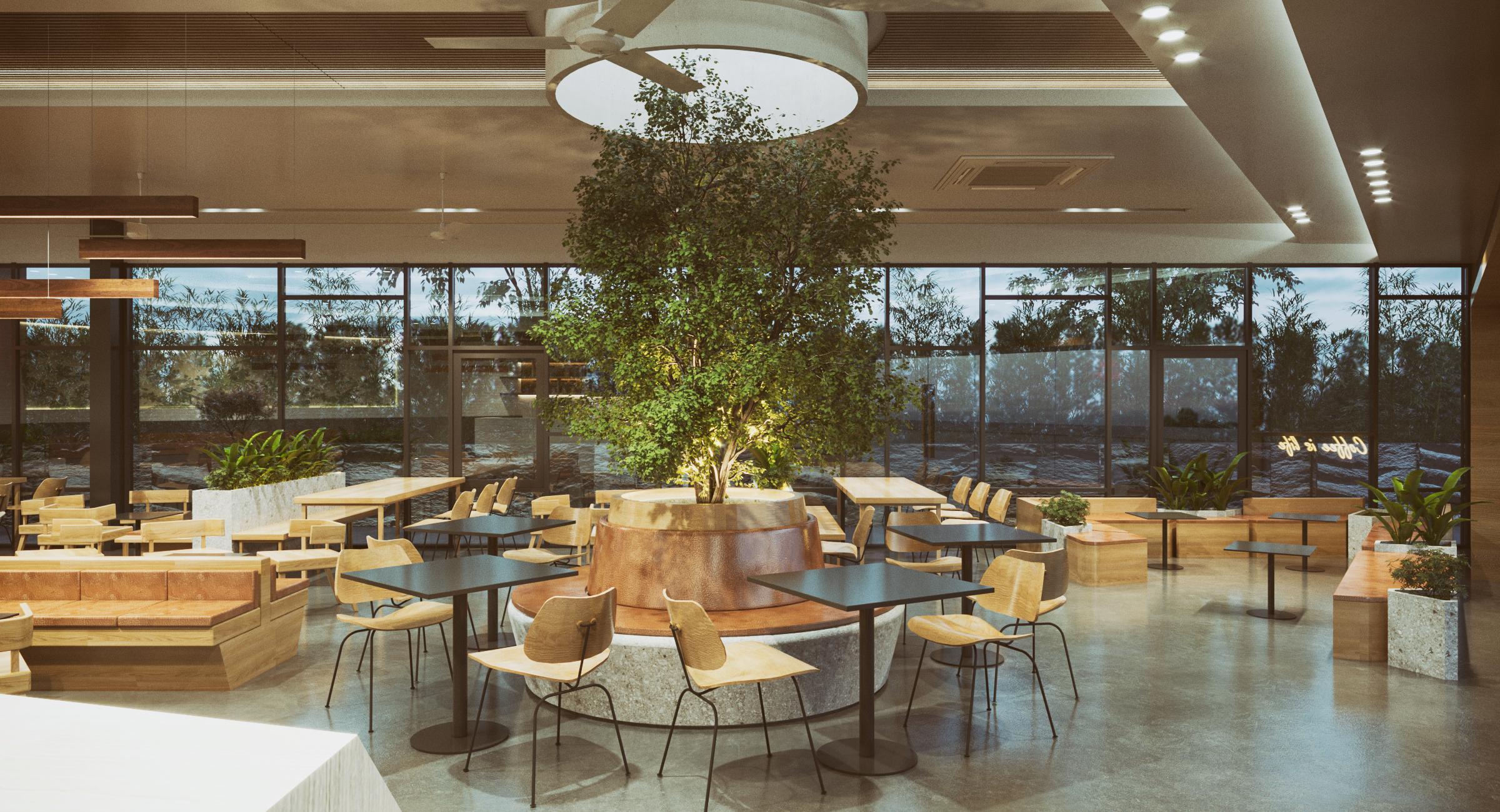 Thiết kế nội thất Cafe tại Long An Block house 1590076483 0