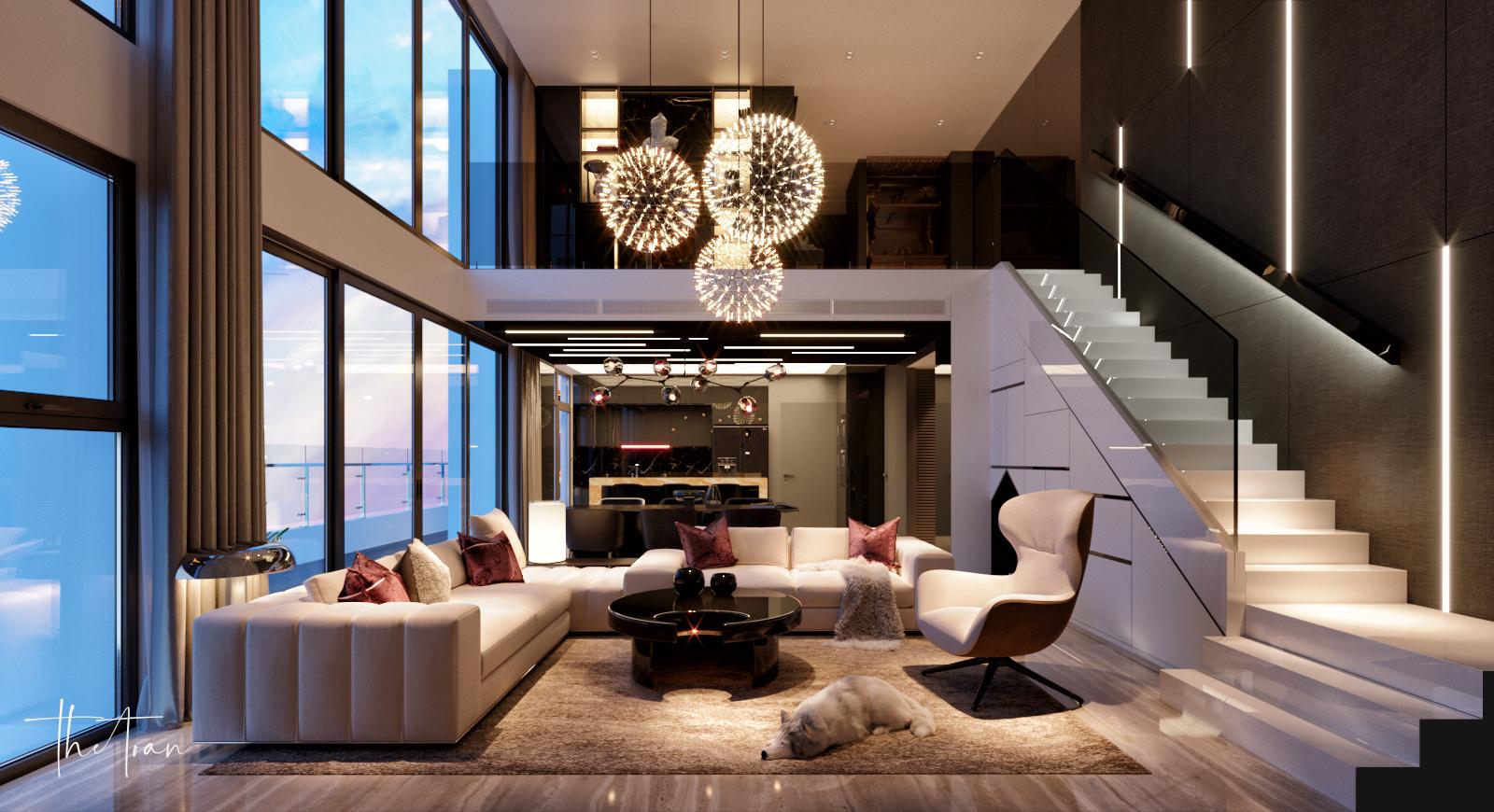 thiết kế nội thất chung cư tại Hồ Chí Minh La Astoria 2 - Penthouse 2 1564743941