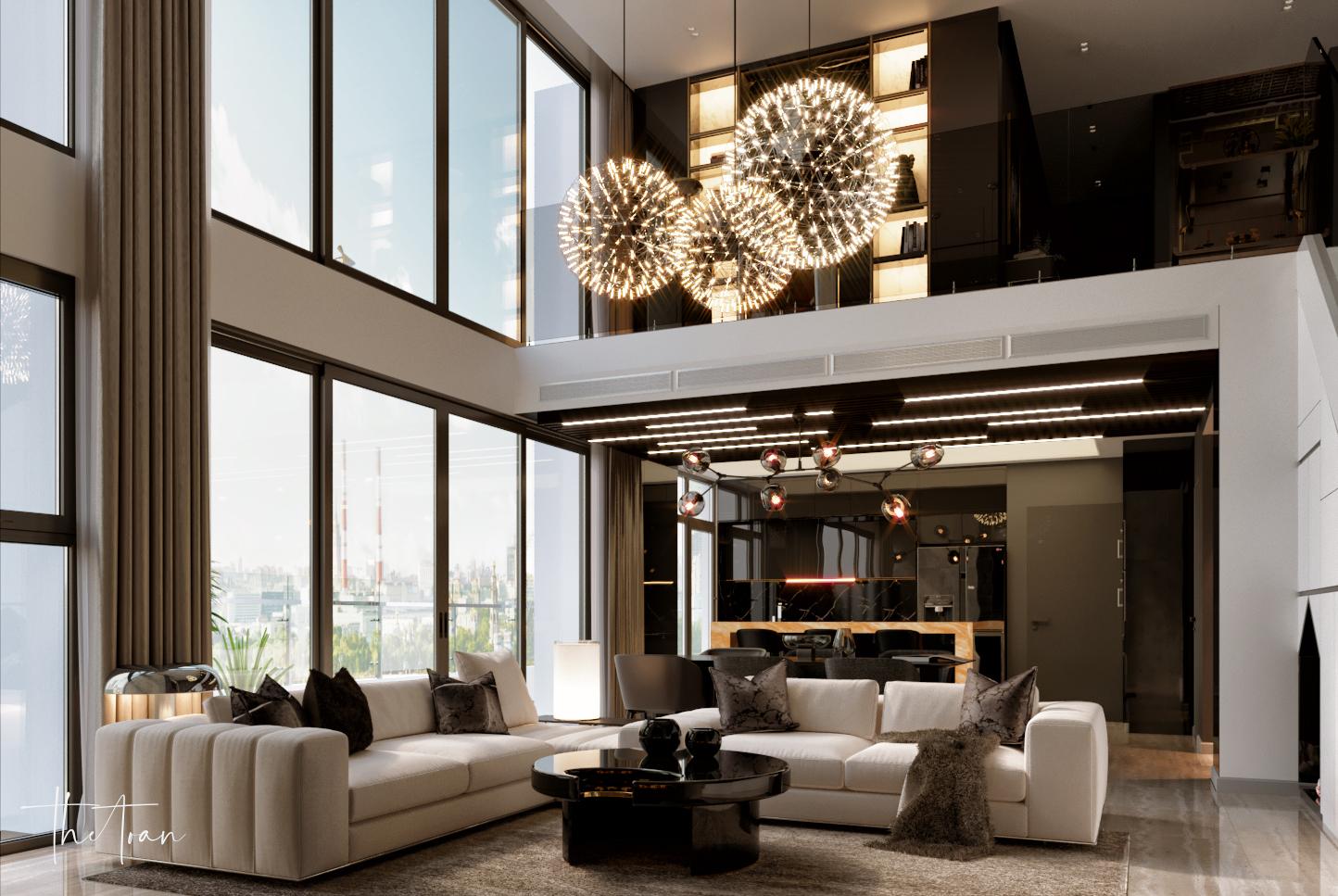 thiết kế nội thất chung cư tại Hồ Chí Minh La Astoria 2 - Penthouse 4 1564743941
