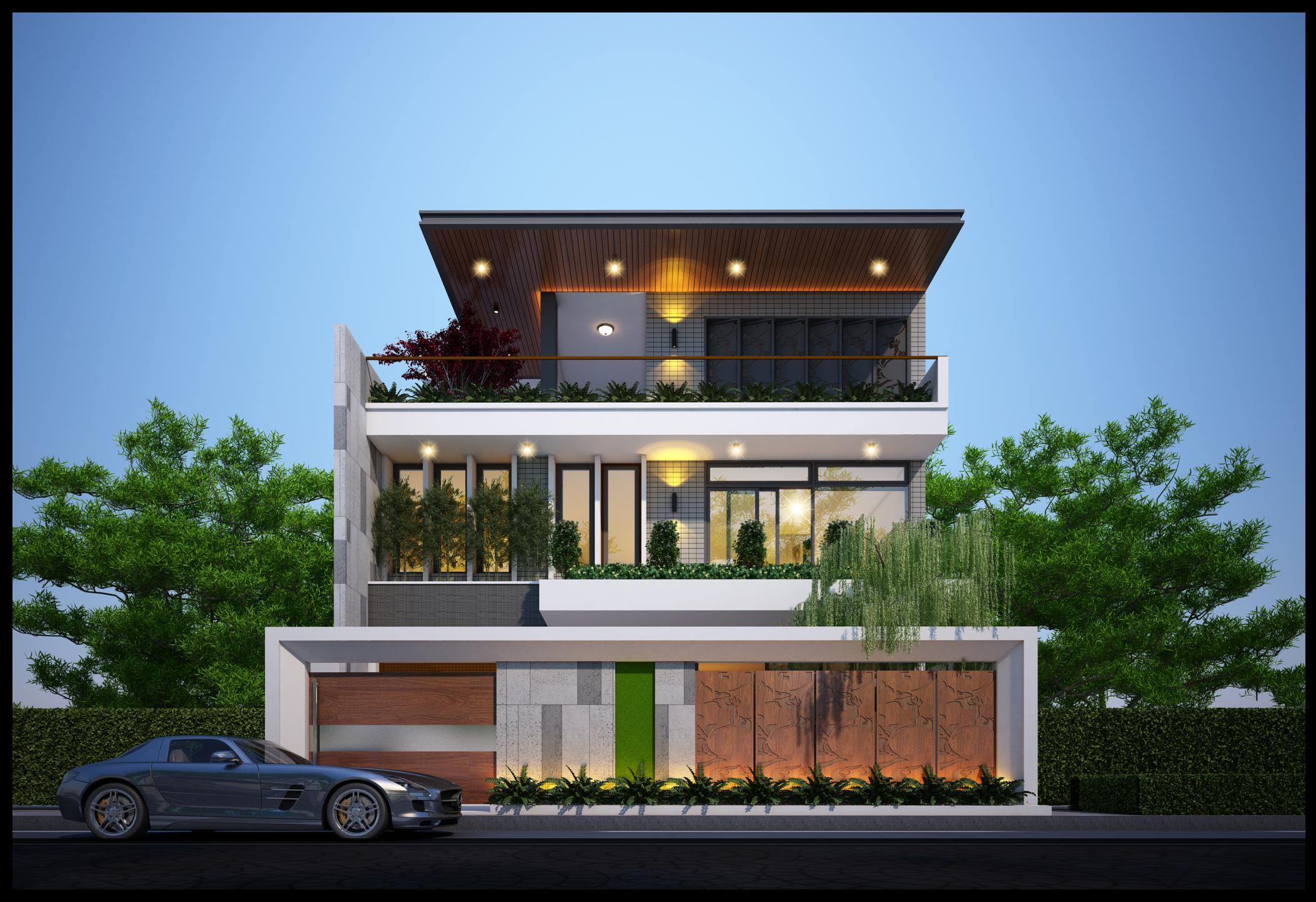 Thiết kế Nhà Mặt Phố tại Đà Nẵng Nhà ở gia đình 1587461277 0