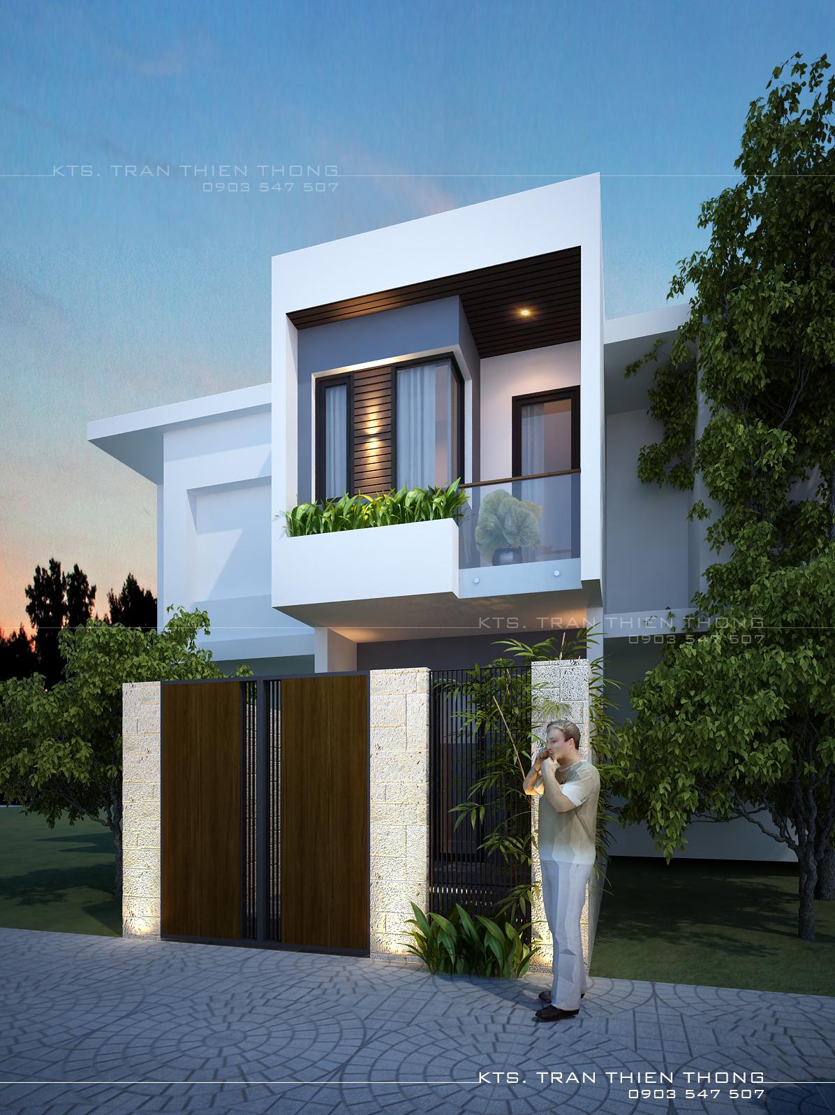 thiết kế Nhà Mặt Phố 2 tầng tại Đà Nẵng Hoa Minh House 2018 0 1550713512