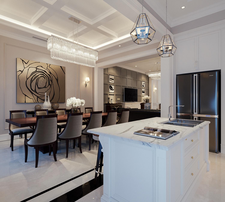 thiết kế nội thất chung cư tại Hà Nội CĂN HỘ TÂN CỔ ĐIỂN SANG TRỌNG VINHOME RIVERSIDE 0 1533269359