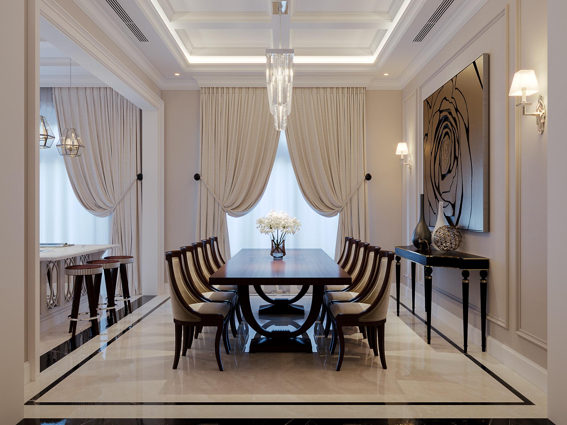 thiết kế nội thất chung cư tại Hà Nội CĂN HỘ TÂN CỔ ĐIỂN SANG TRỌNG VINHOME RIVERSIDE 4 1533269355