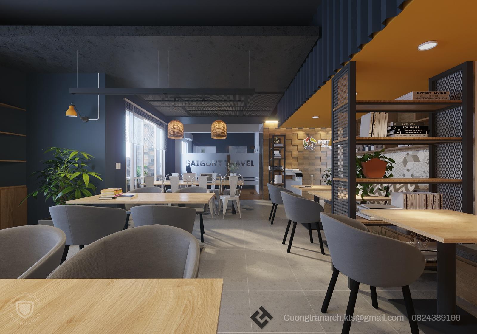 thiết kế nội thất Văn Phòng tại Hồ Chí Minh VĂN PHÒNG LÀM VIỆC CÔNG TY VIET TRAVEL - VIET TRAVEL OFFICE 1 1562142886