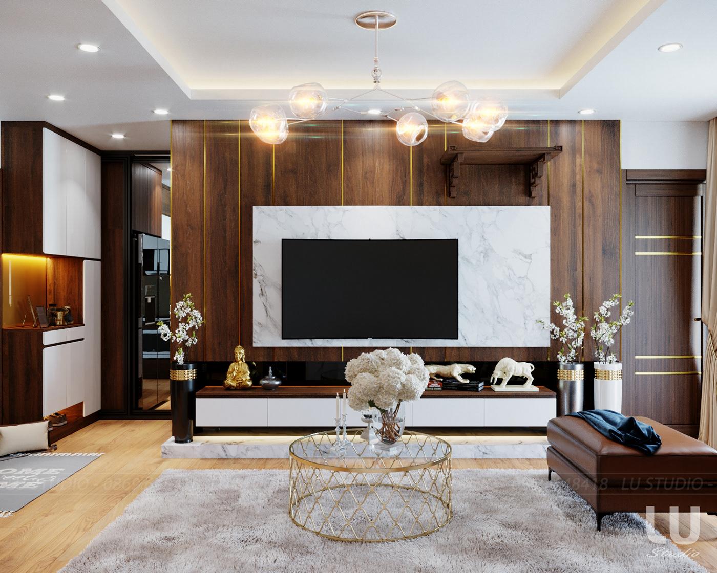 thiết kế nội thất chung cư tại Hà Nội Chung cư Season Avennue Thanh Xuân, Hà Nội 1 1533263518