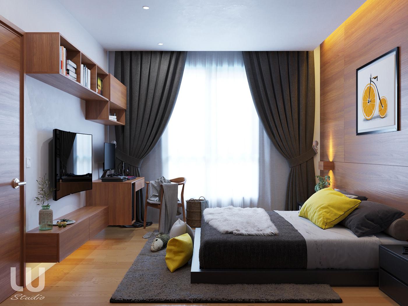 thiết kế nội thất chung cư tại Hà Nội Căn Hộ Season Avennue Phong Cách Hiện Đại - HN 2 1533263011