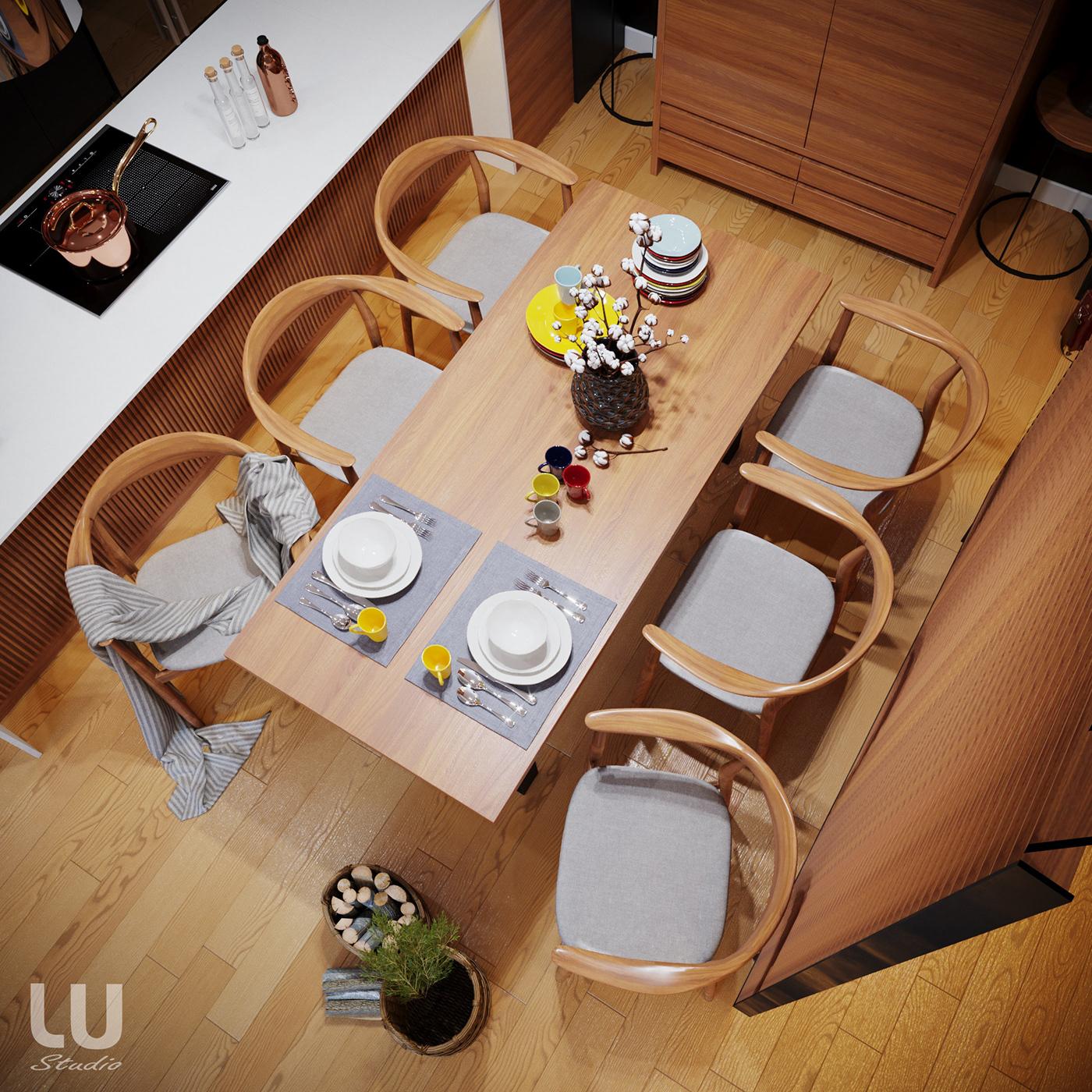 thiết kế nội thất chung cư tại Hà Nội Căn Hộ Season Avennue Phong Cách Hiện Đại - HN 9 1533263020