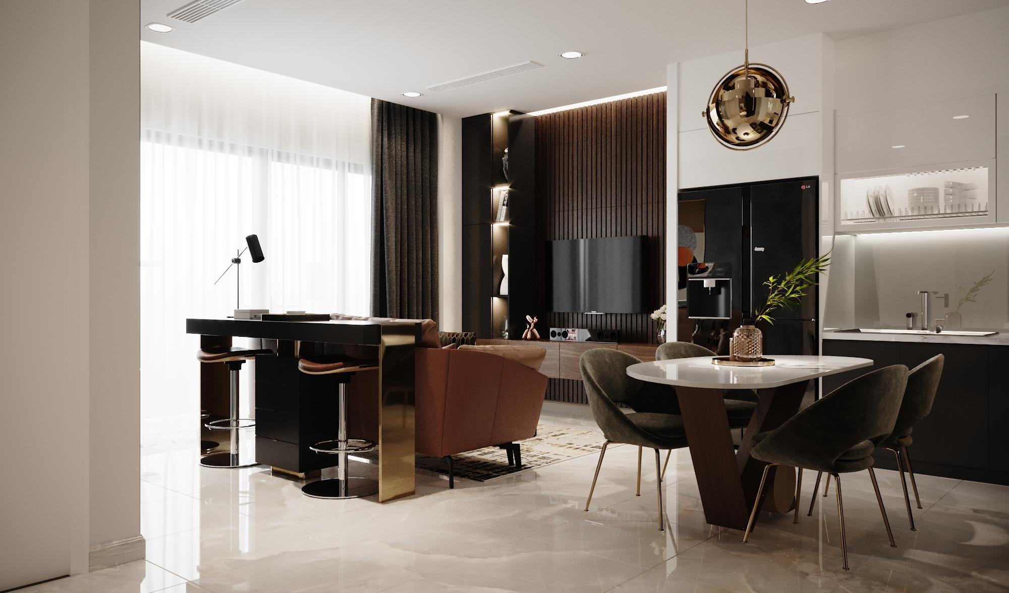 Thiết kế nội thất Chung Cư tại Hồ Chí Minh Vinhomes Bason 1575023164 2