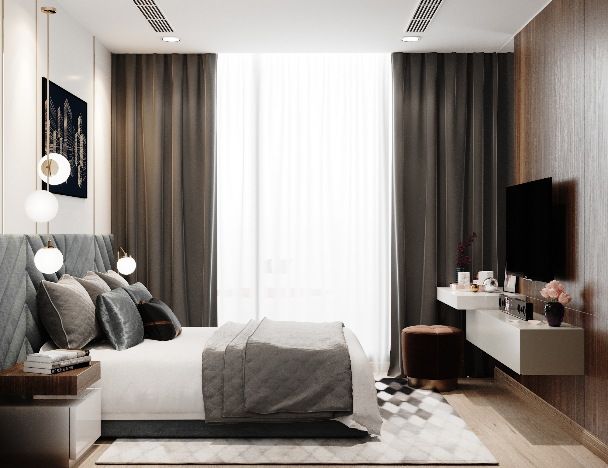 Thiết kế nội thất Chung Cư tại Hồ Chí Minh Vinhomes Bason 1575023164 4