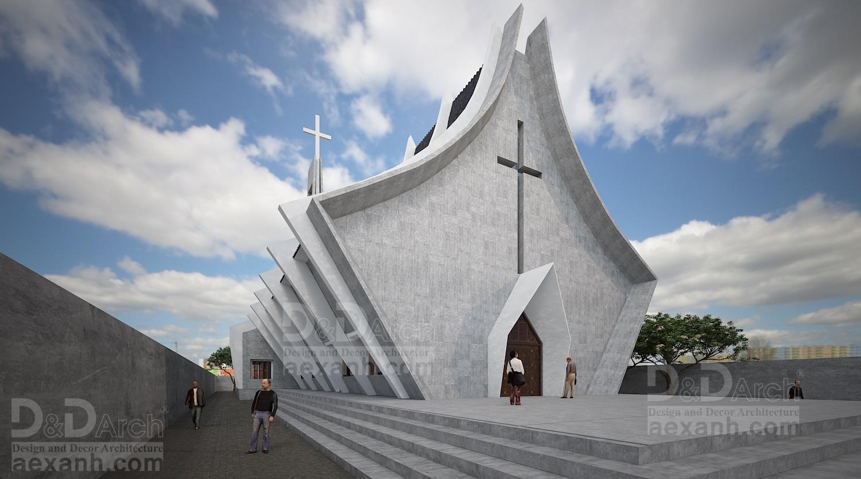 thiết kế Công Trình Công Cộng tại Hà Nội Nhà thờ Phú Gia 1 1568021919