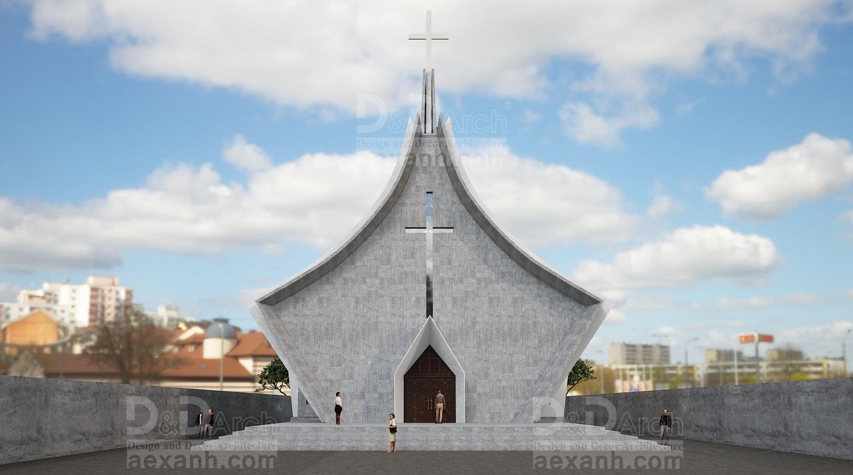thiết kế Công Trình Công Cộng tại Hà Nội Nhà thờ Phú Gia 2 1568021919