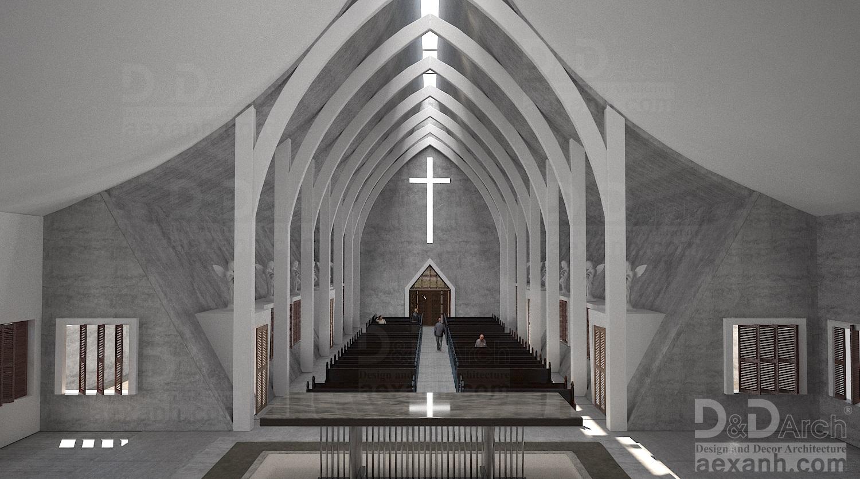 thiết kế Công Trình Công Cộng tại Hà Nội Nhà thờ Phú Gia 4 1568021919