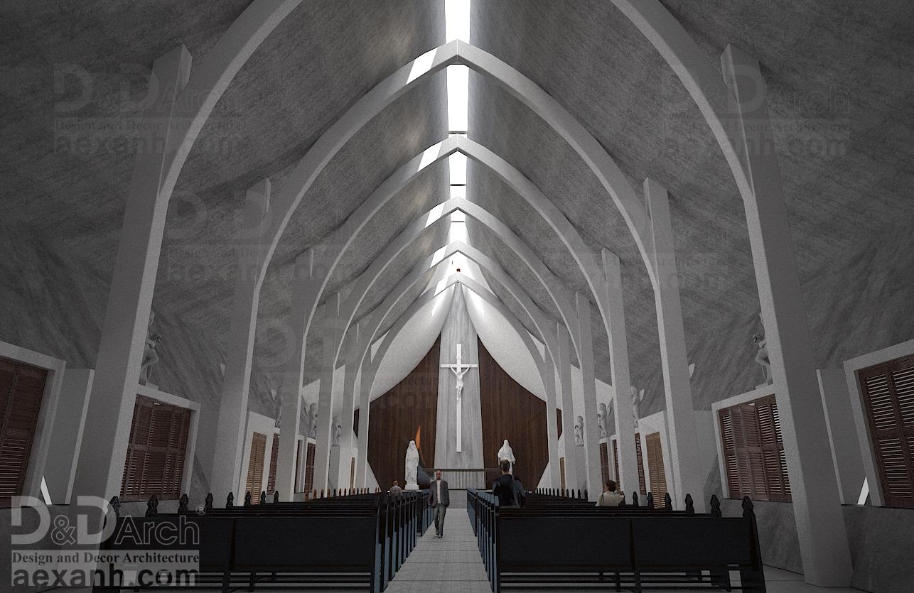 thiết kế Công Trình Công Cộng tại Hà Nội Nhà thờ Phú Gia 5 1568021919