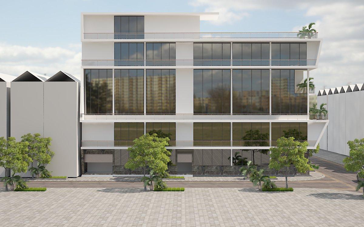 thiết kế Nhà Mặt Phố 6 tầng tại Bắc Ninh nhà ở và showroom bán hàng 3 1554485828