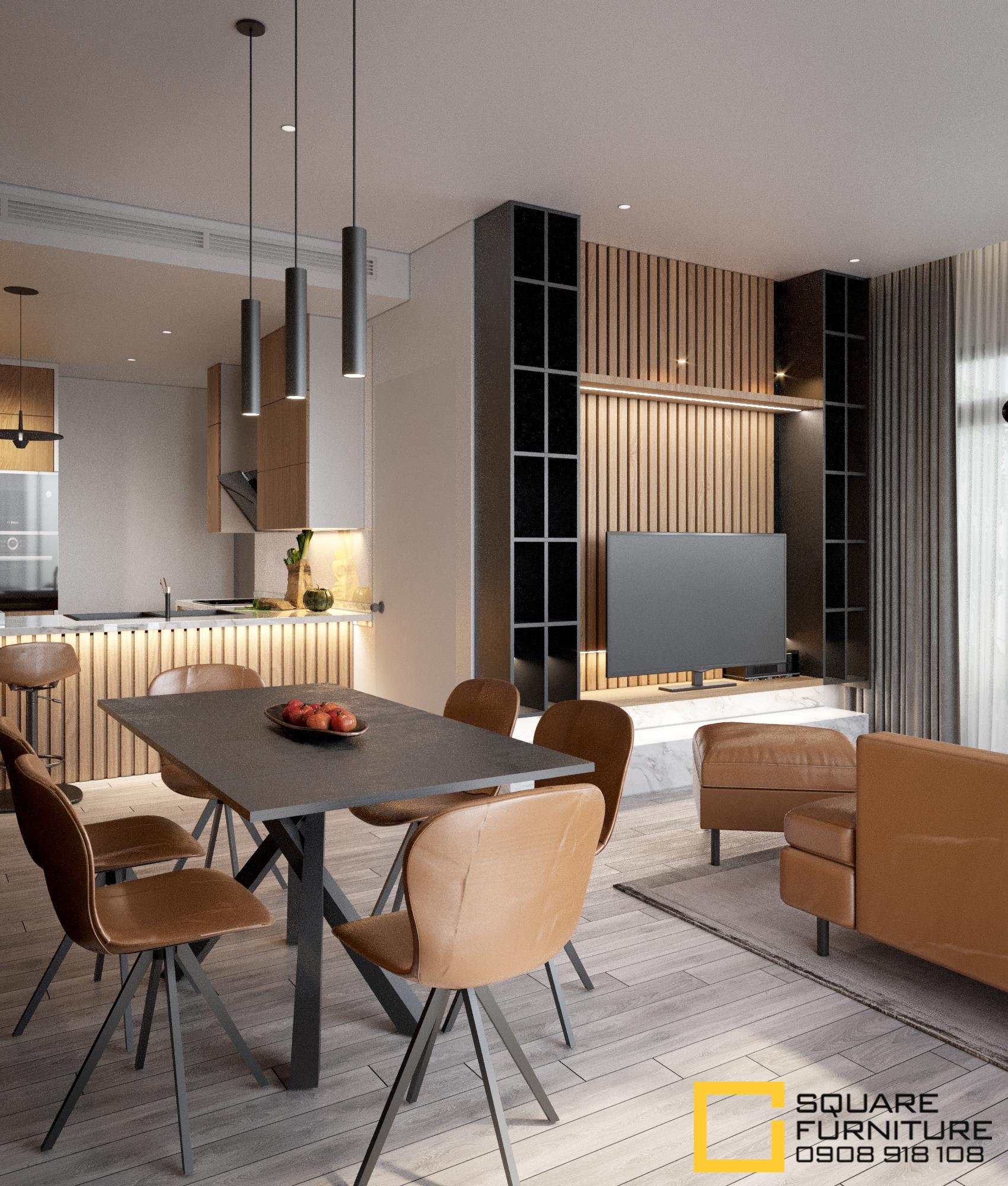 thiết kế nội thất chung cư tại Hồ Chí Minh Căn hộ Haiwaii Đảo Kim Cương 1 1559032072