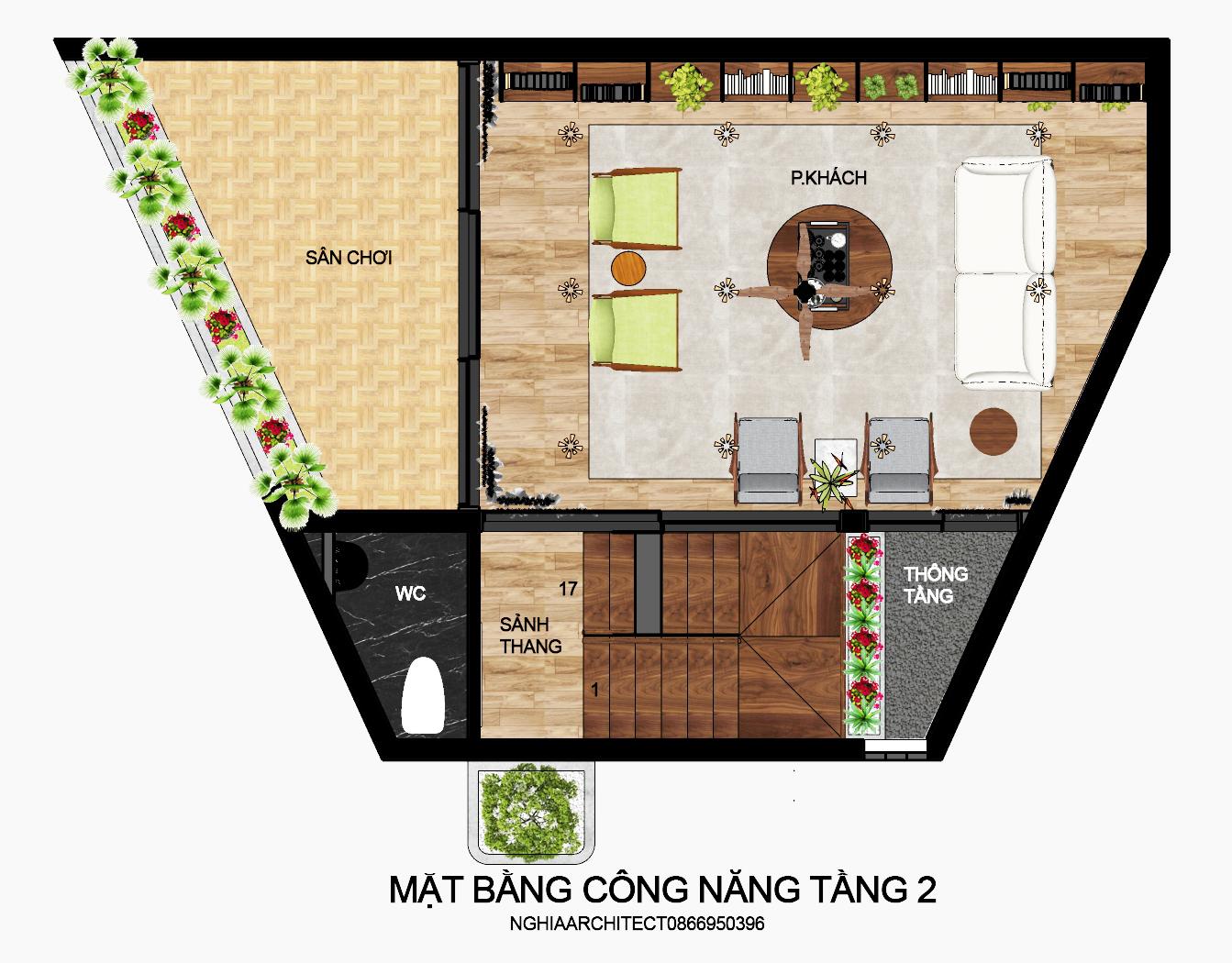 Thiết kế Nhà Mặt Phố tại Hà Nội nhà trắng 1604758177 8