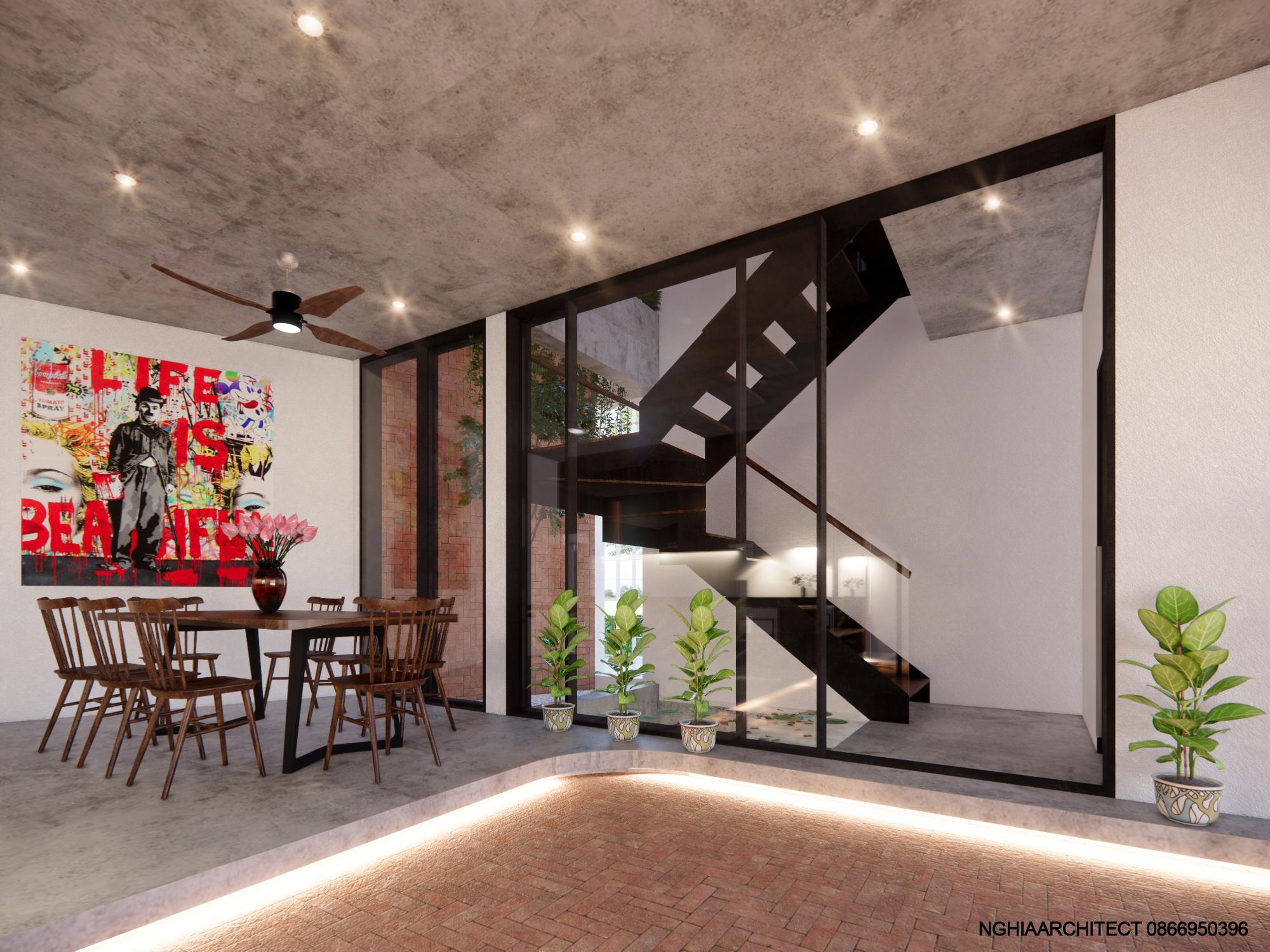 Thiết kế Nhà Mặt Phố tại Hà Nội nhà trắng 1604758178 9