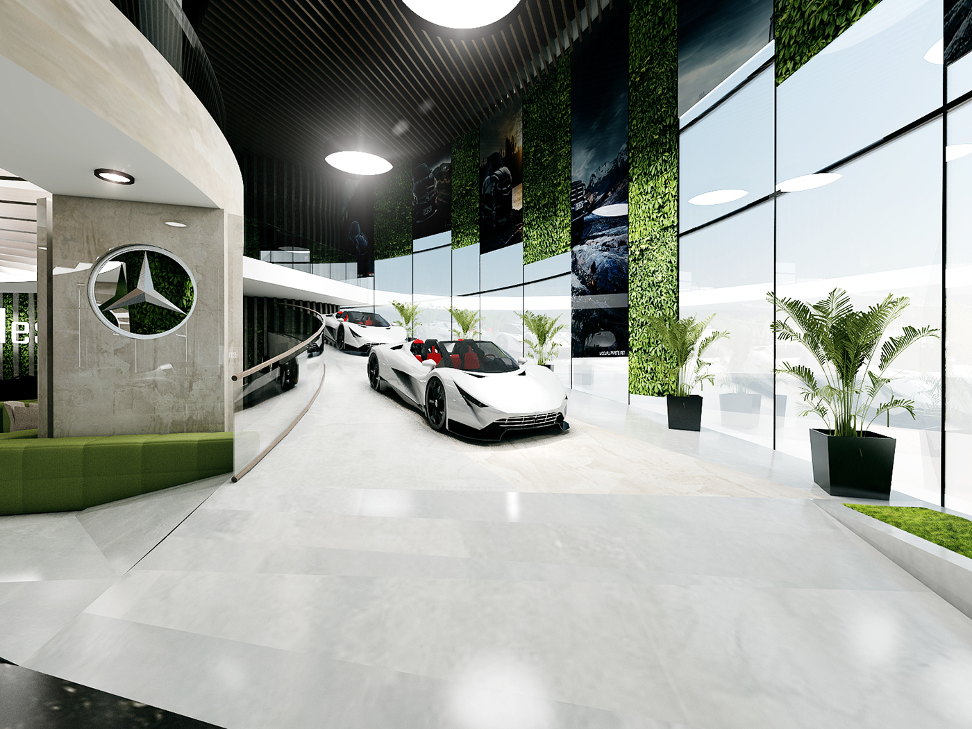 thiết kế nội thất Showroom tại Đà Nẵng THIẾT KẾ SHOWROOM TRƯNG BÀY XE MERCEDES - TP ĐÀ NẴNG 3 1534150428
