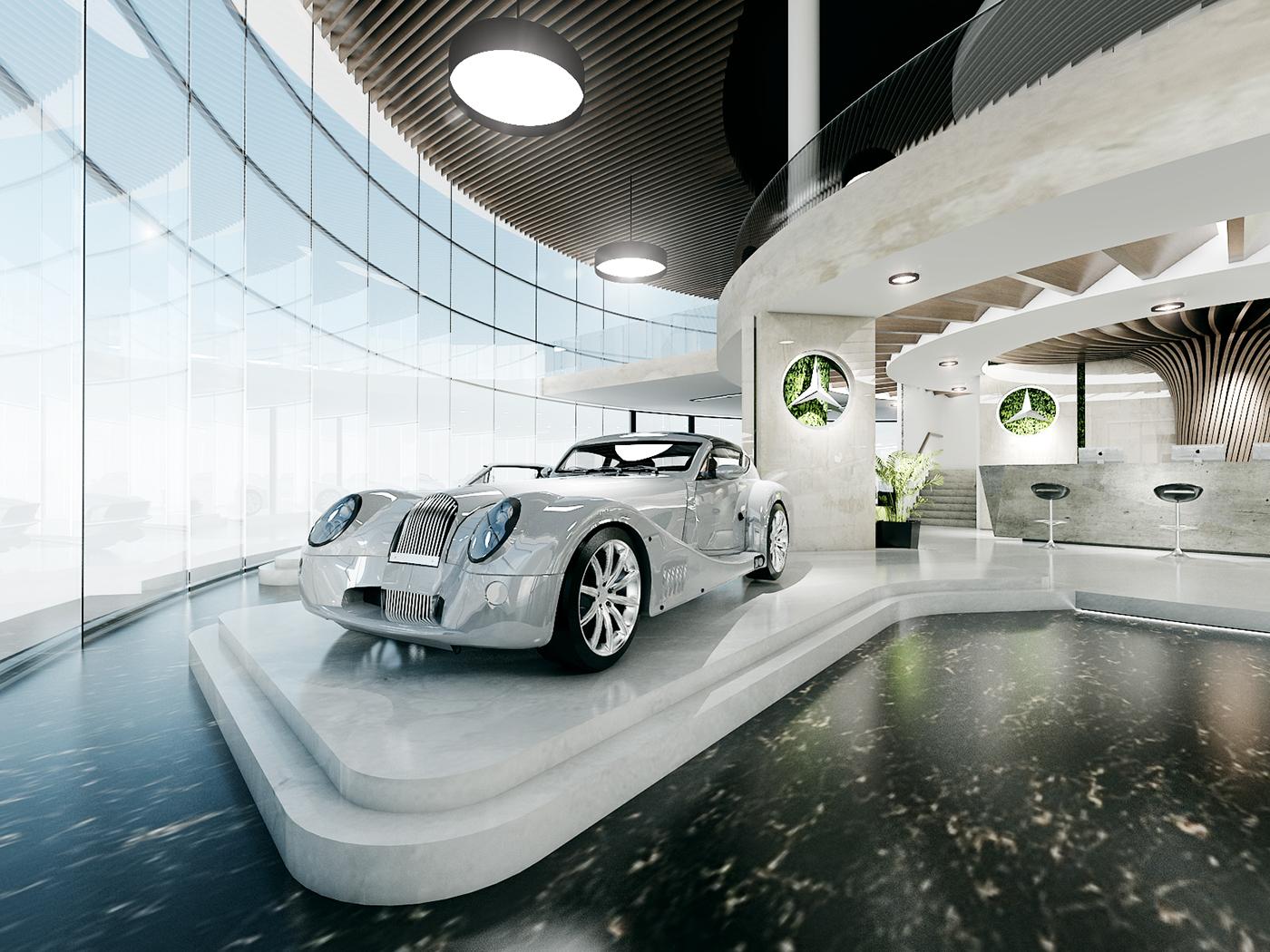 thiết kế nội thất Showroom tại Đà Nẵng THIẾT KẾ SHOWROOM TRƯNG BÀY XE MERCEDES - TP ĐÀ NẴNG 5 1534150430