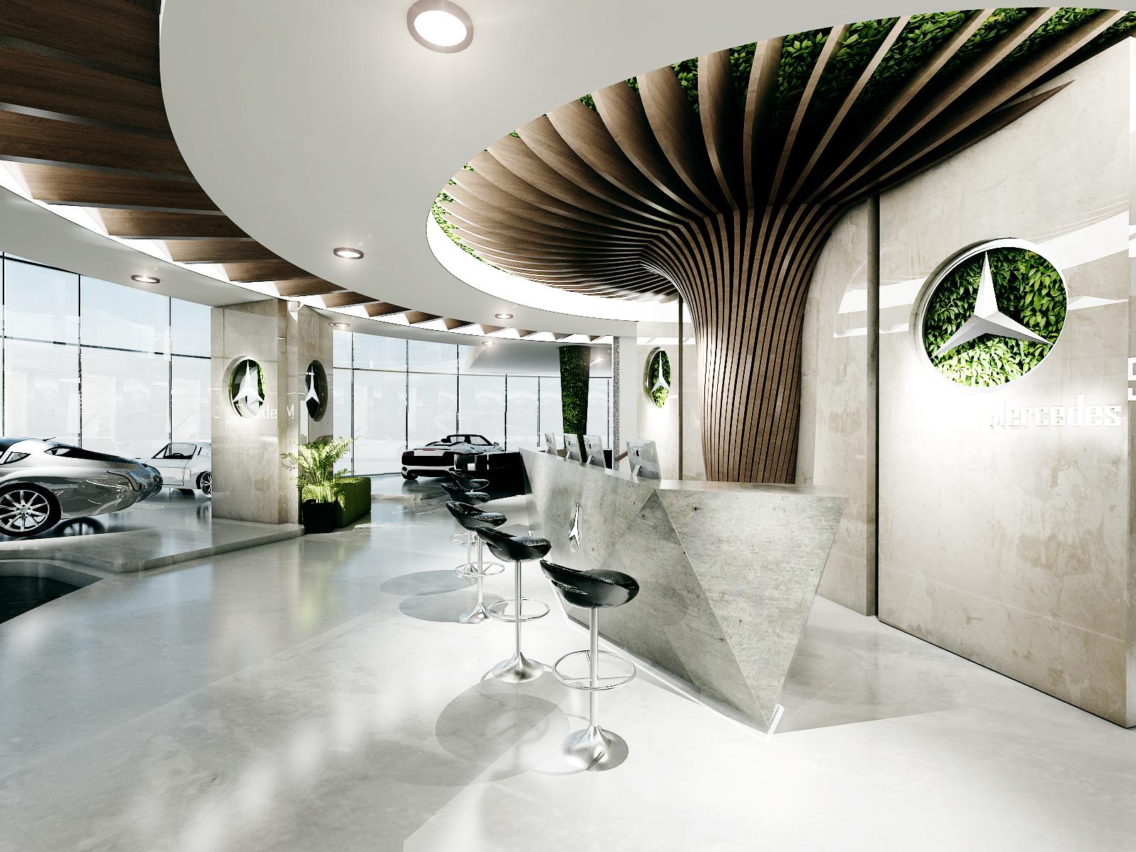 thiết kế nội thất Showroom tại Đà Nẵng THIẾT KẾ SHOWROOM TRƯNG BÀY XE MERCEDES - TP ĐÀ NẴNG 6 1534150432